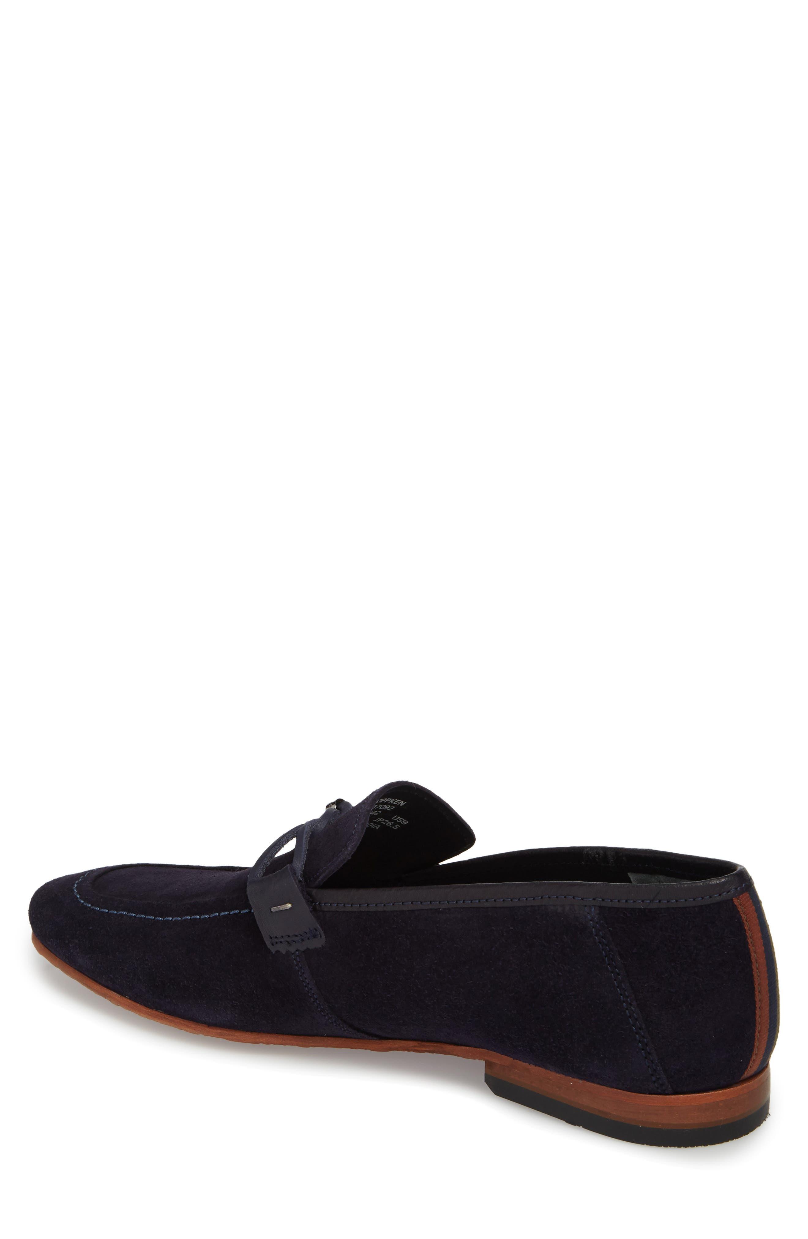 Hoppken Convertible Knotted Loafer,                             Alternate thumbnail 2, color,                             Dark Blue Suede