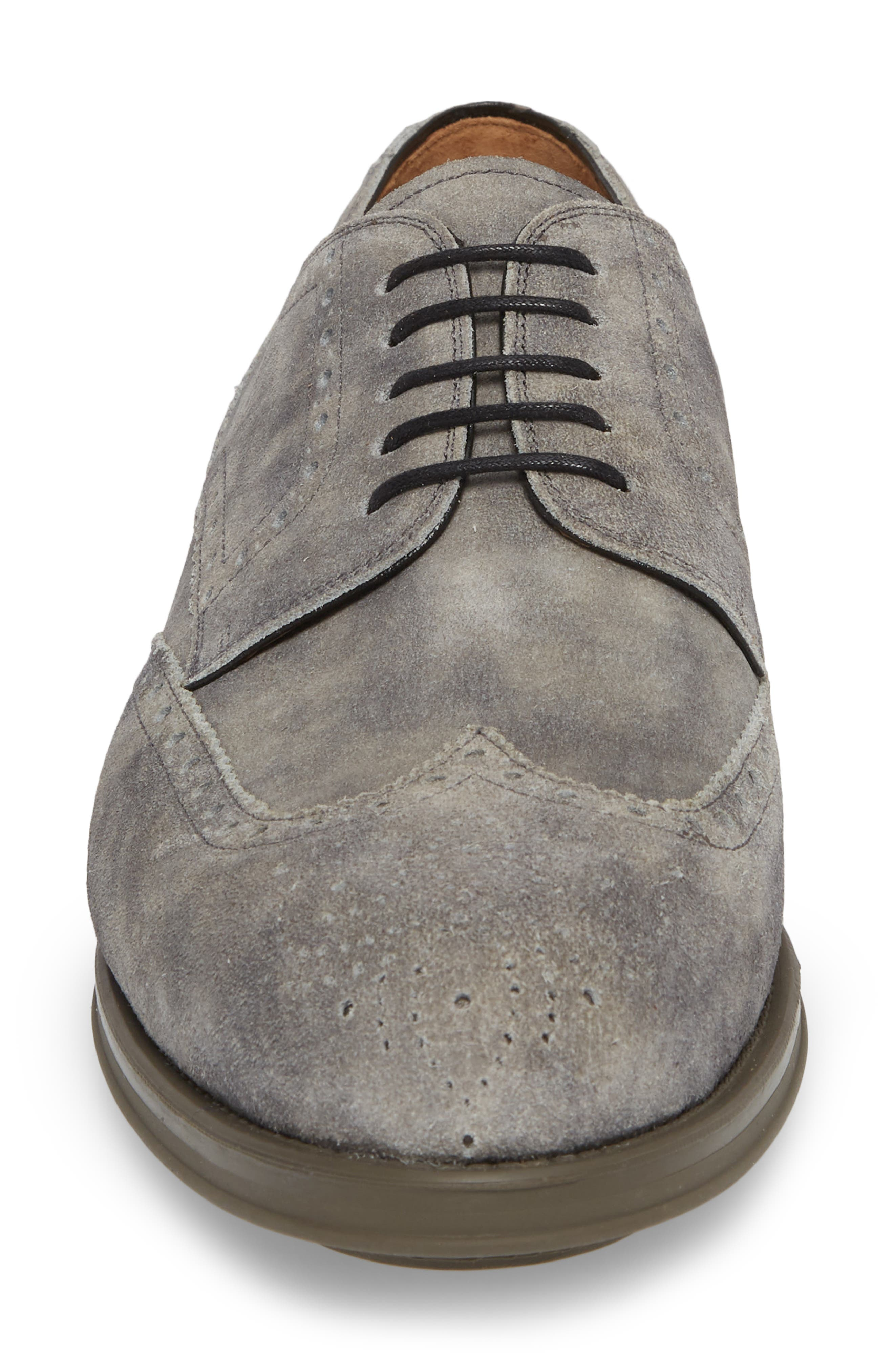 Tormo Wingtip,                             Alternate thumbnail 4, color,                             Grey Leather