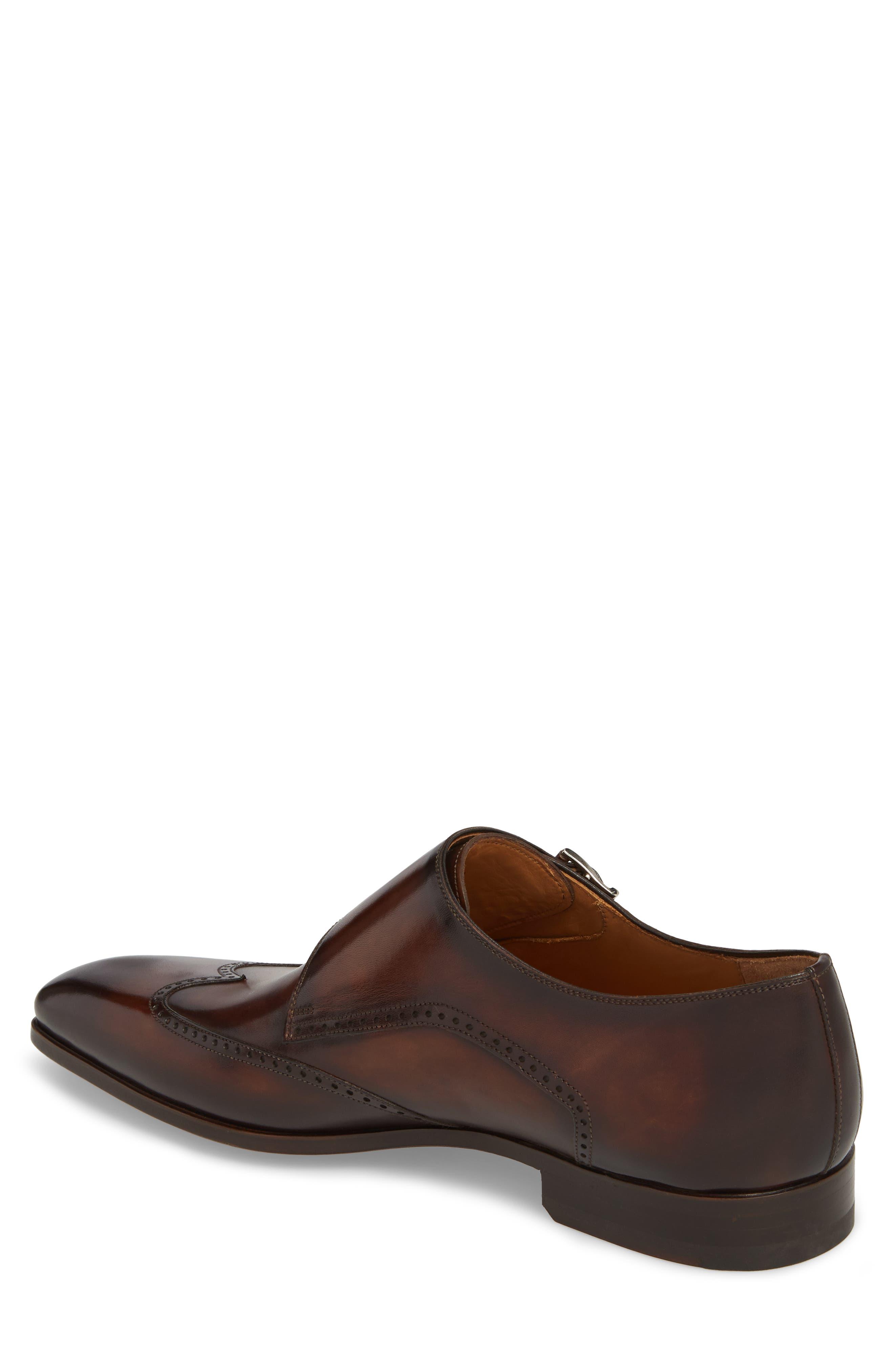 Dixon Wingtip Double Strap Monk Shoe,                             Alternate thumbnail 2, color,                             Tobacco Leather