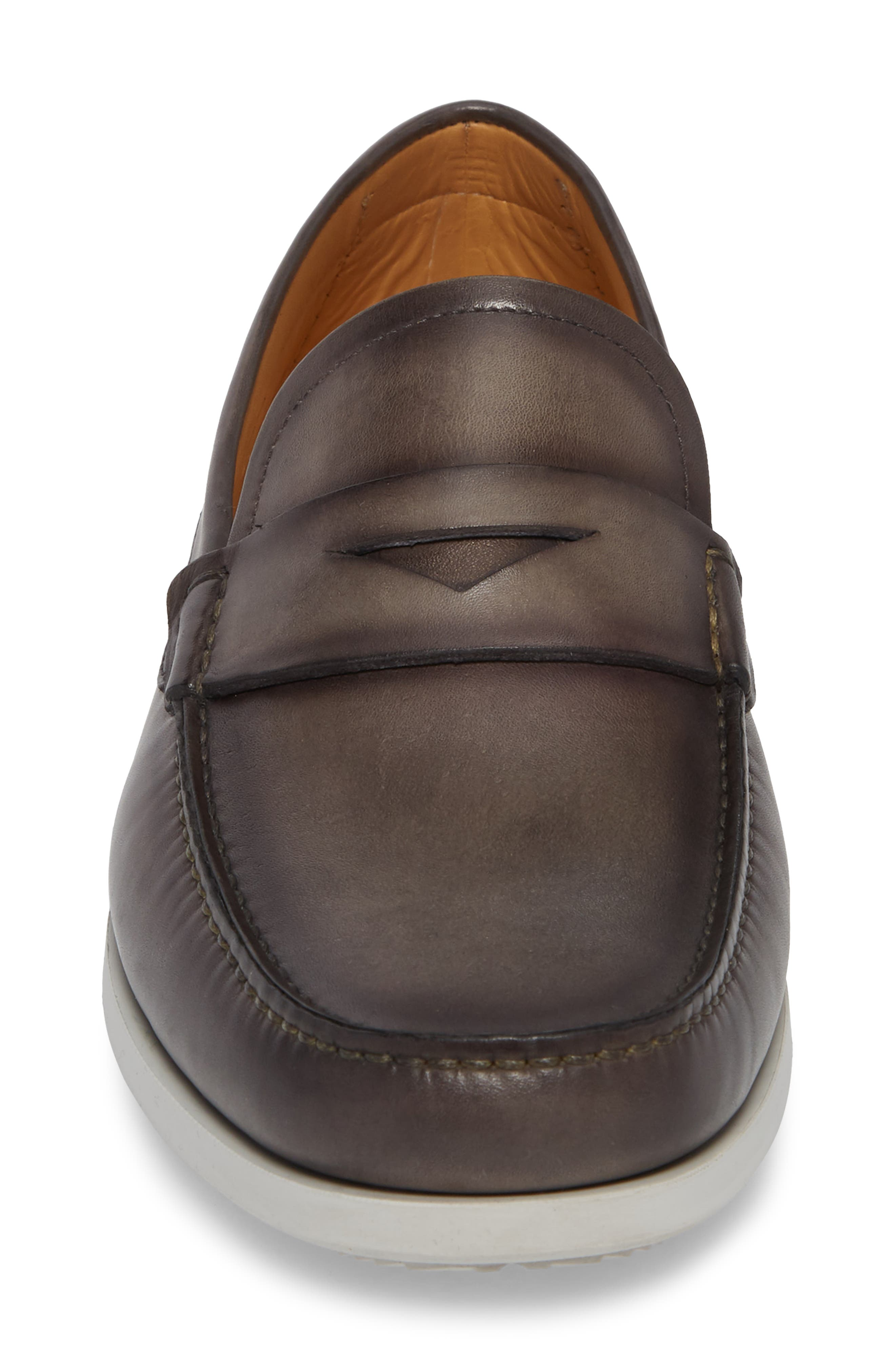 Laguna Penny Loafer,                             Alternate thumbnail 4, color,                             Grey Leather