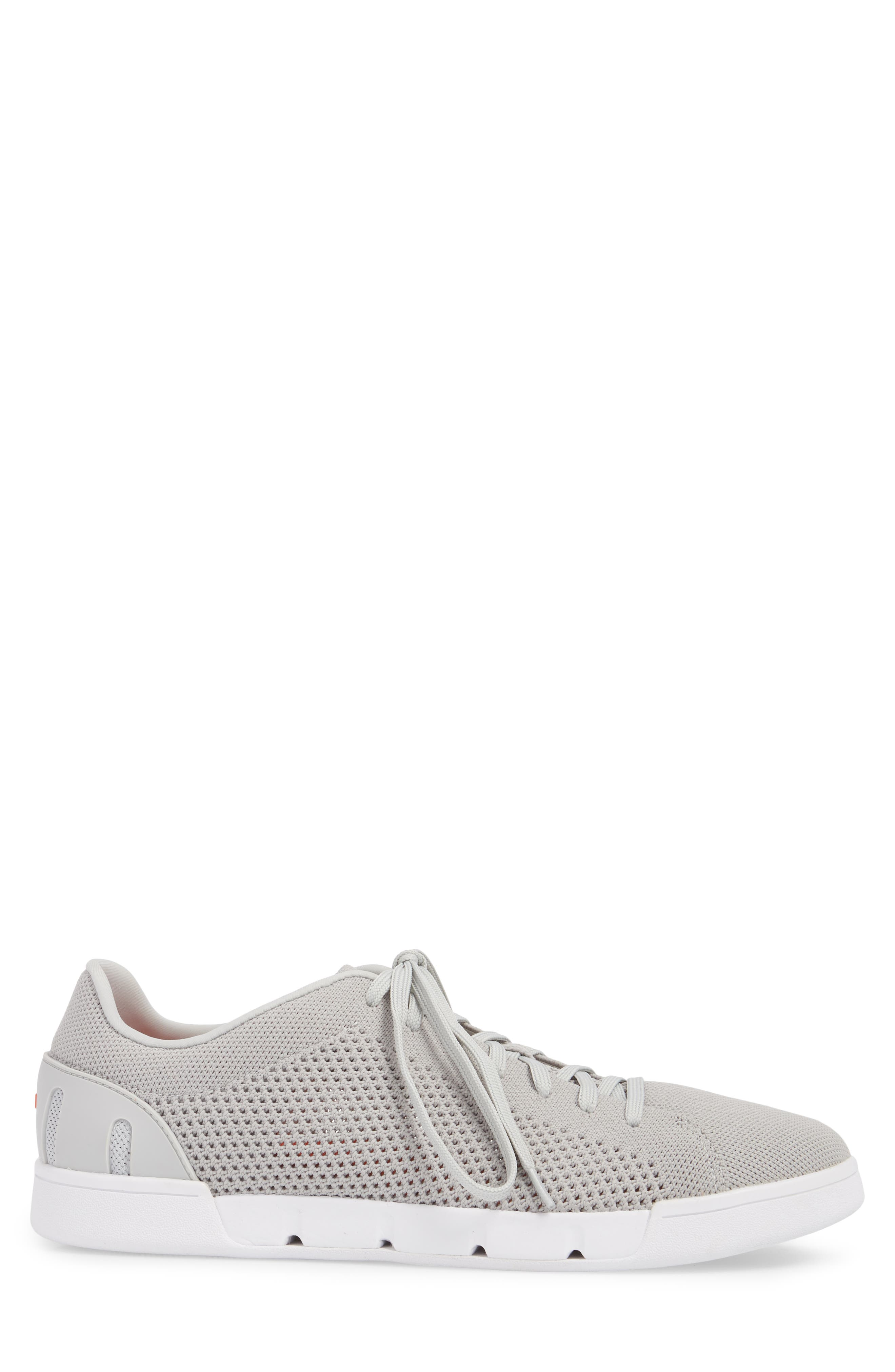 Breeze Tennis Washable Knit Sneaker,                             Alternate thumbnail 3, color,                             Light Grey/ White Fabric