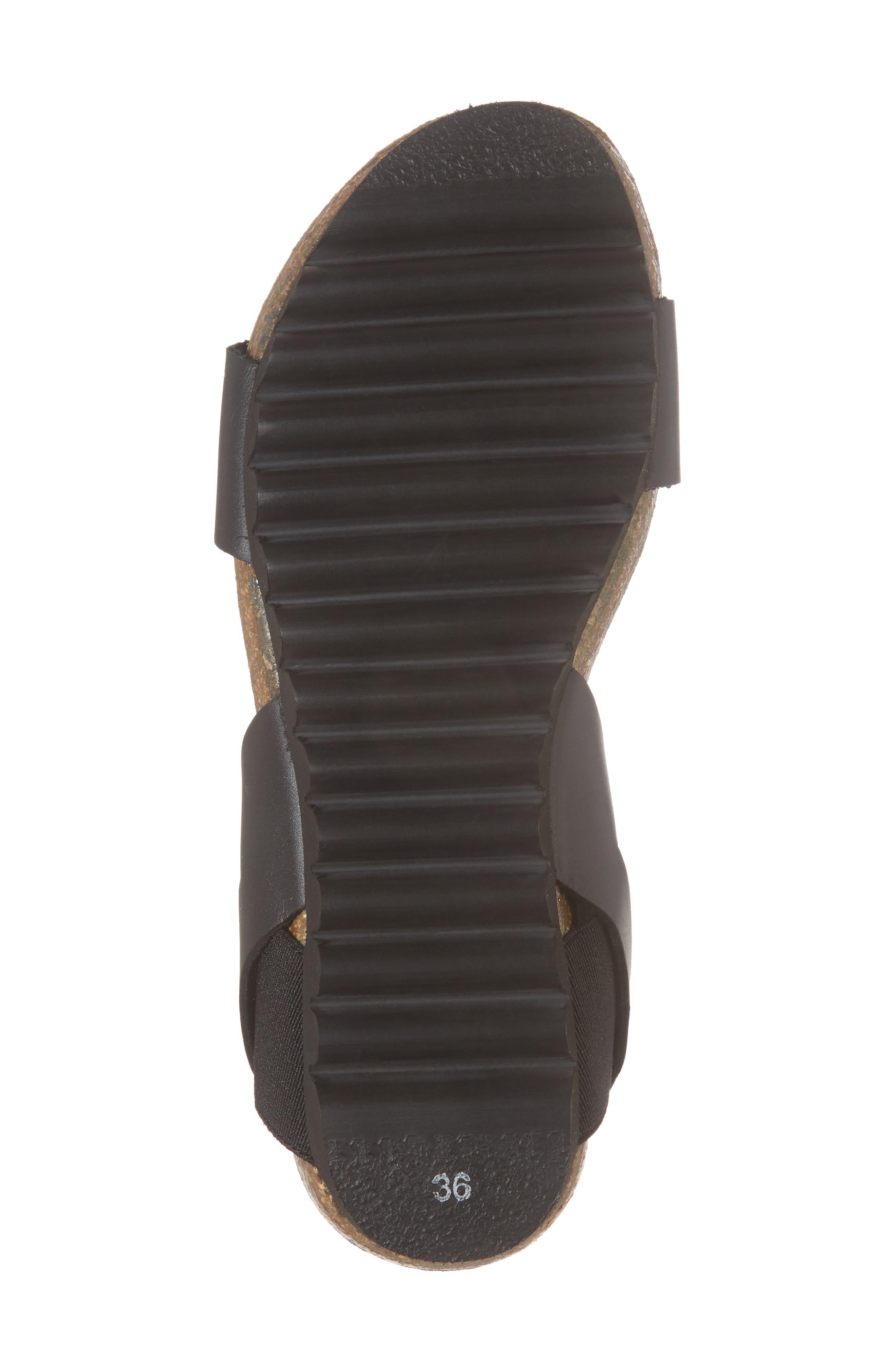 Luna Sandal,                             Alternate thumbnail 6, color,                             Black Leather