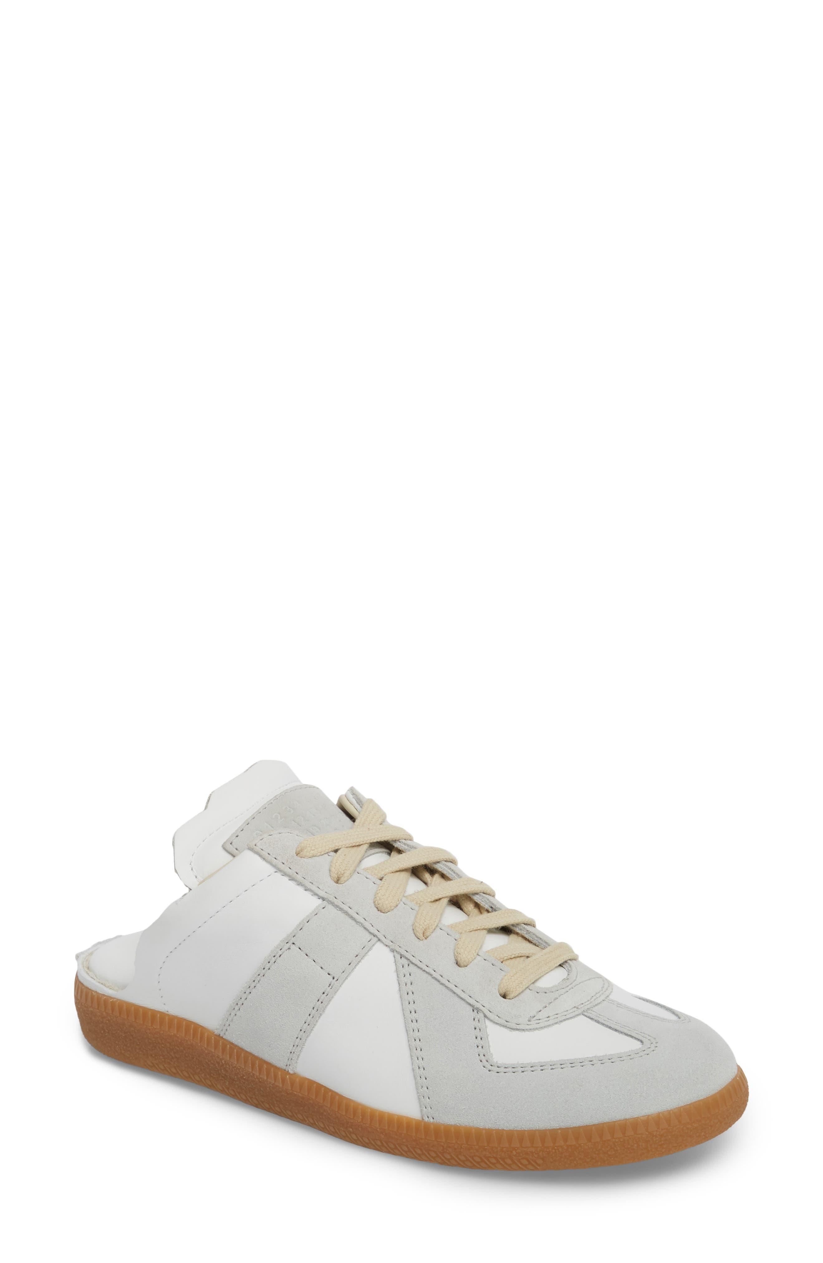 Replica Sneaker Mule,                             Main thumbnail 1, color,                             Amber/ White