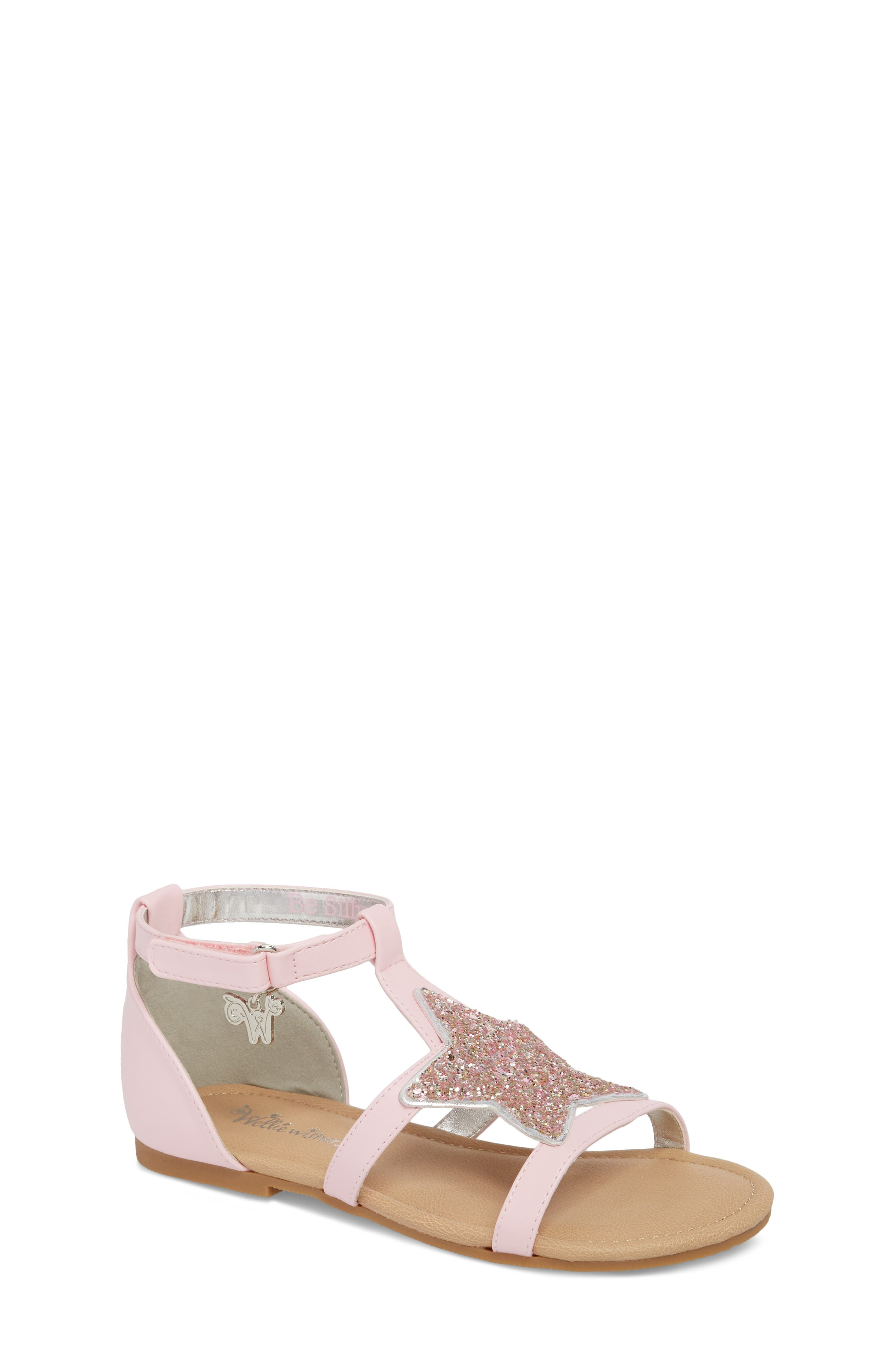Emerson Glitter Star Sandal,                             Main thumbnail 1, color,                             Orchid Pink