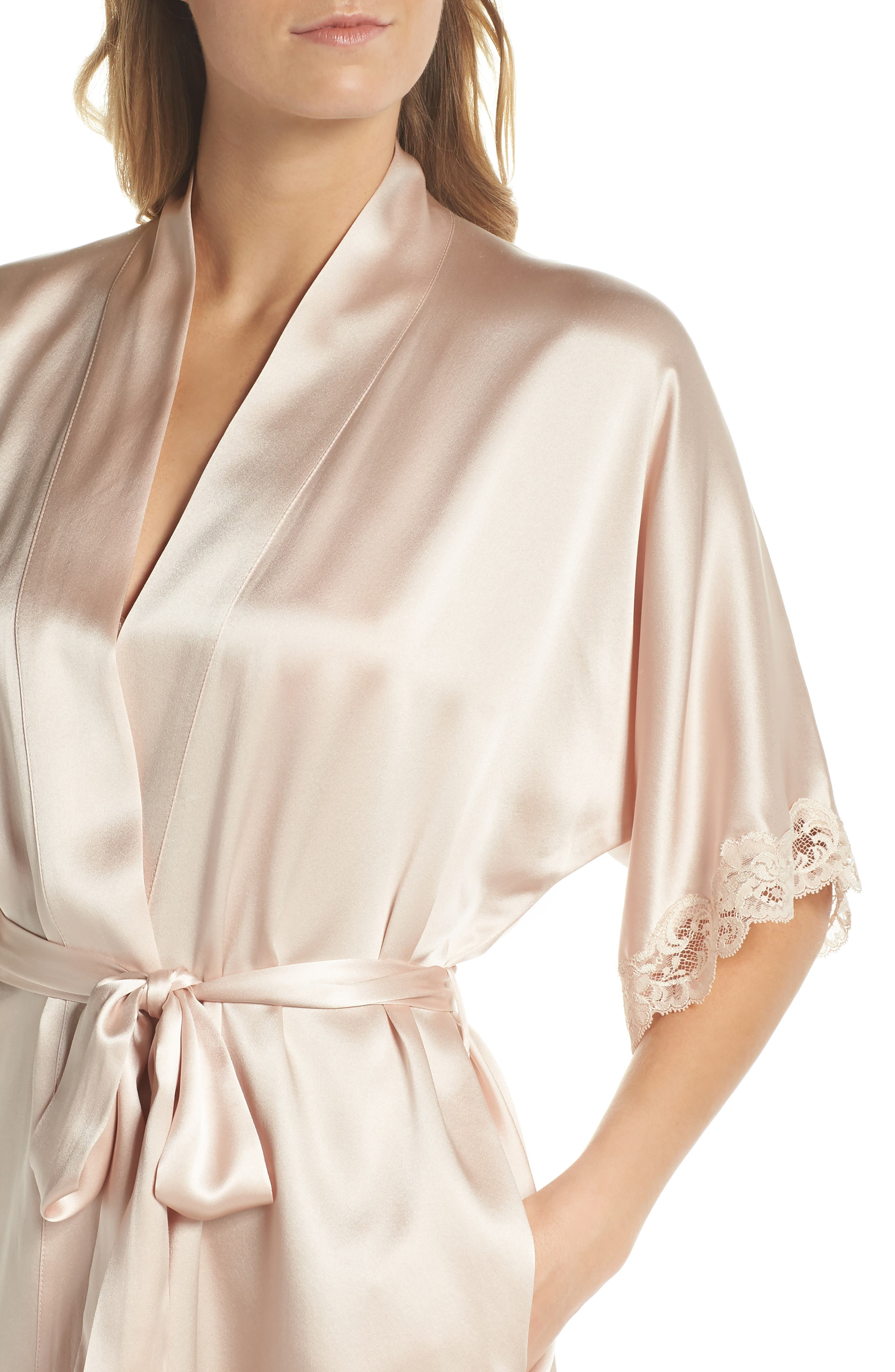 Alternate Image 4  - Christine Boudoir Silk Robe