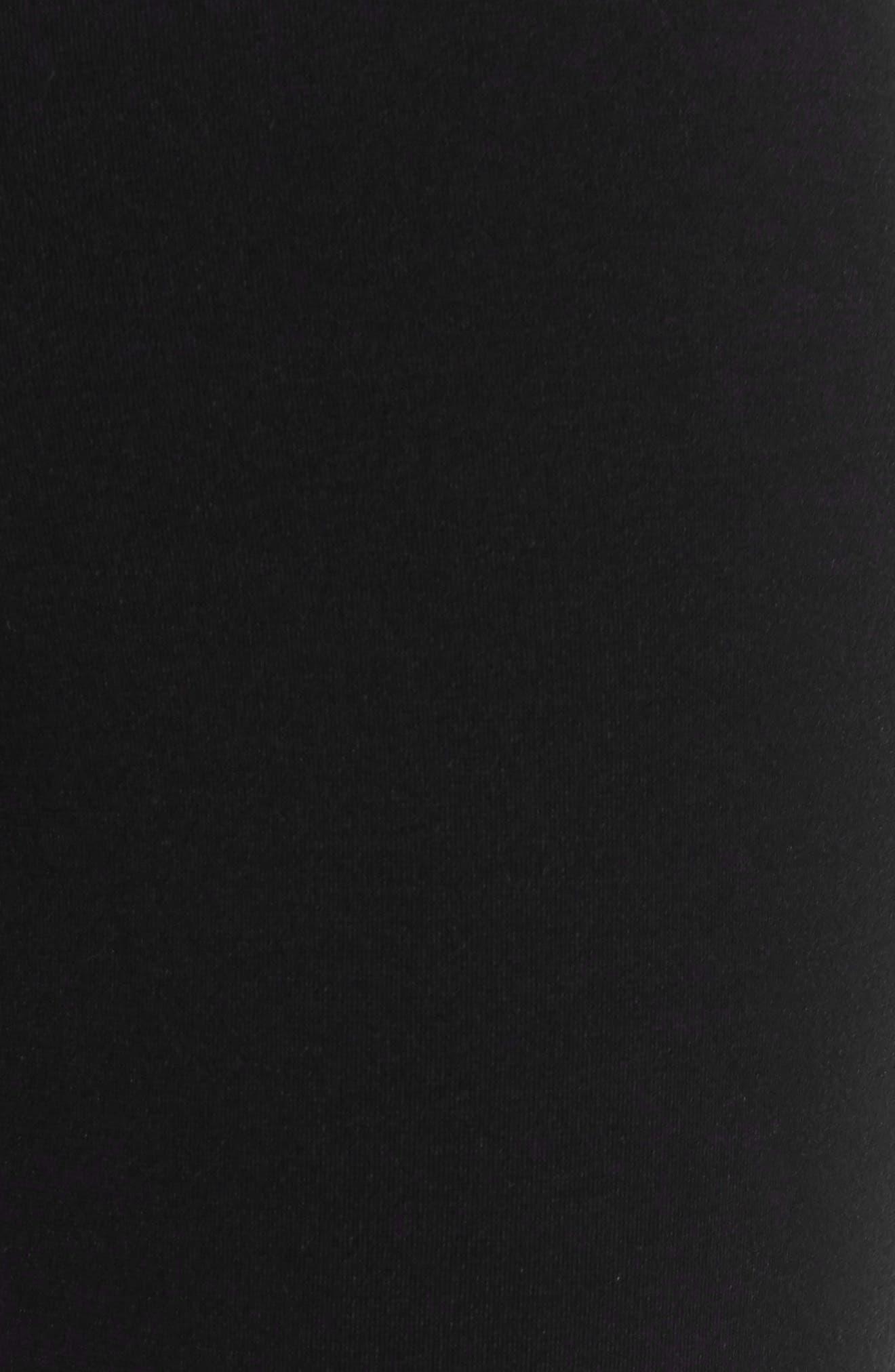 Petunia Ruffle Hem Pants,                             Alternate thumbnail 5, color,                             Black