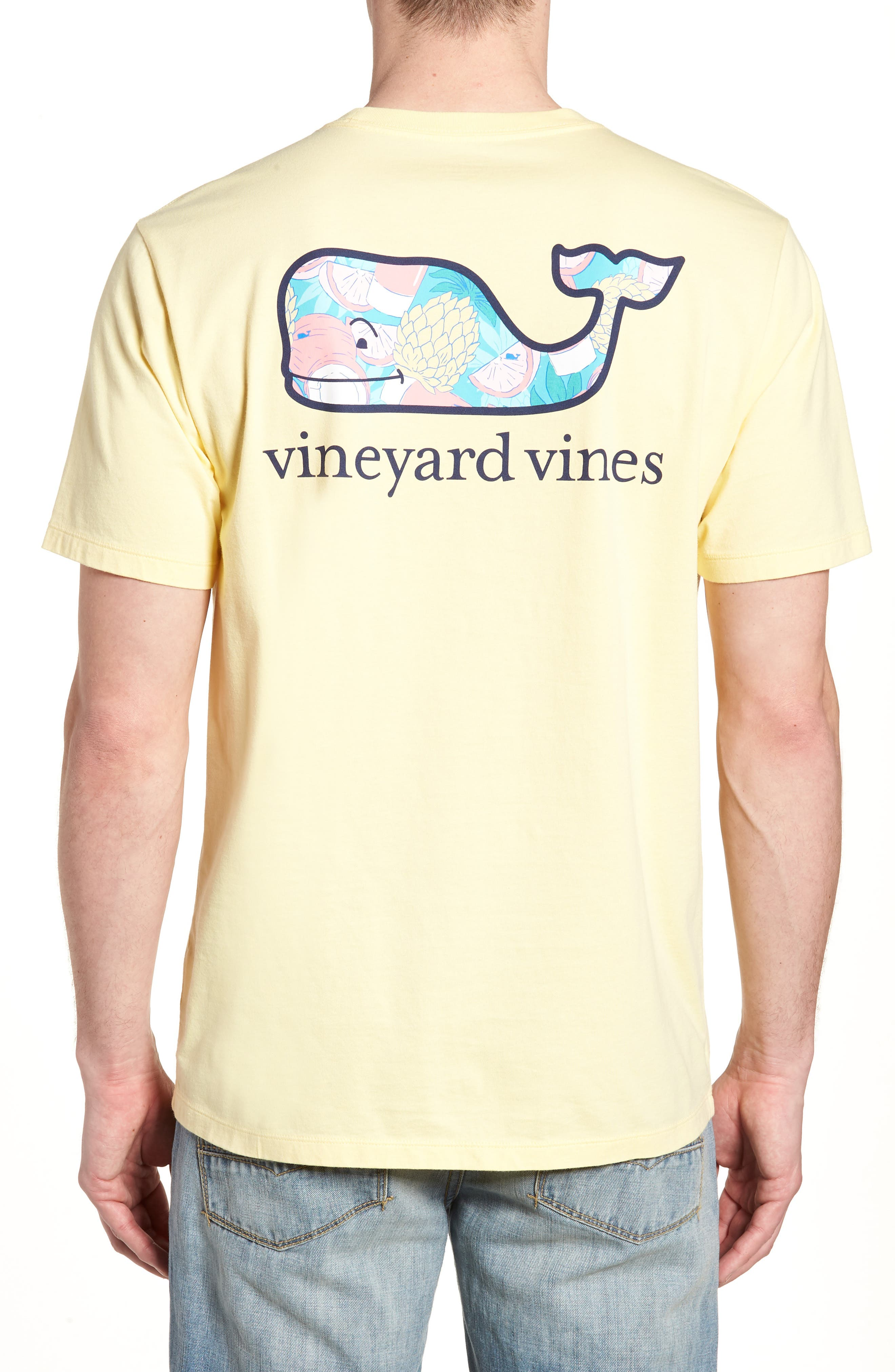 Bahama Mama Whale Pocket T-Shirt,                             Alternate thumbnail 2, color,                             Lemon Drop