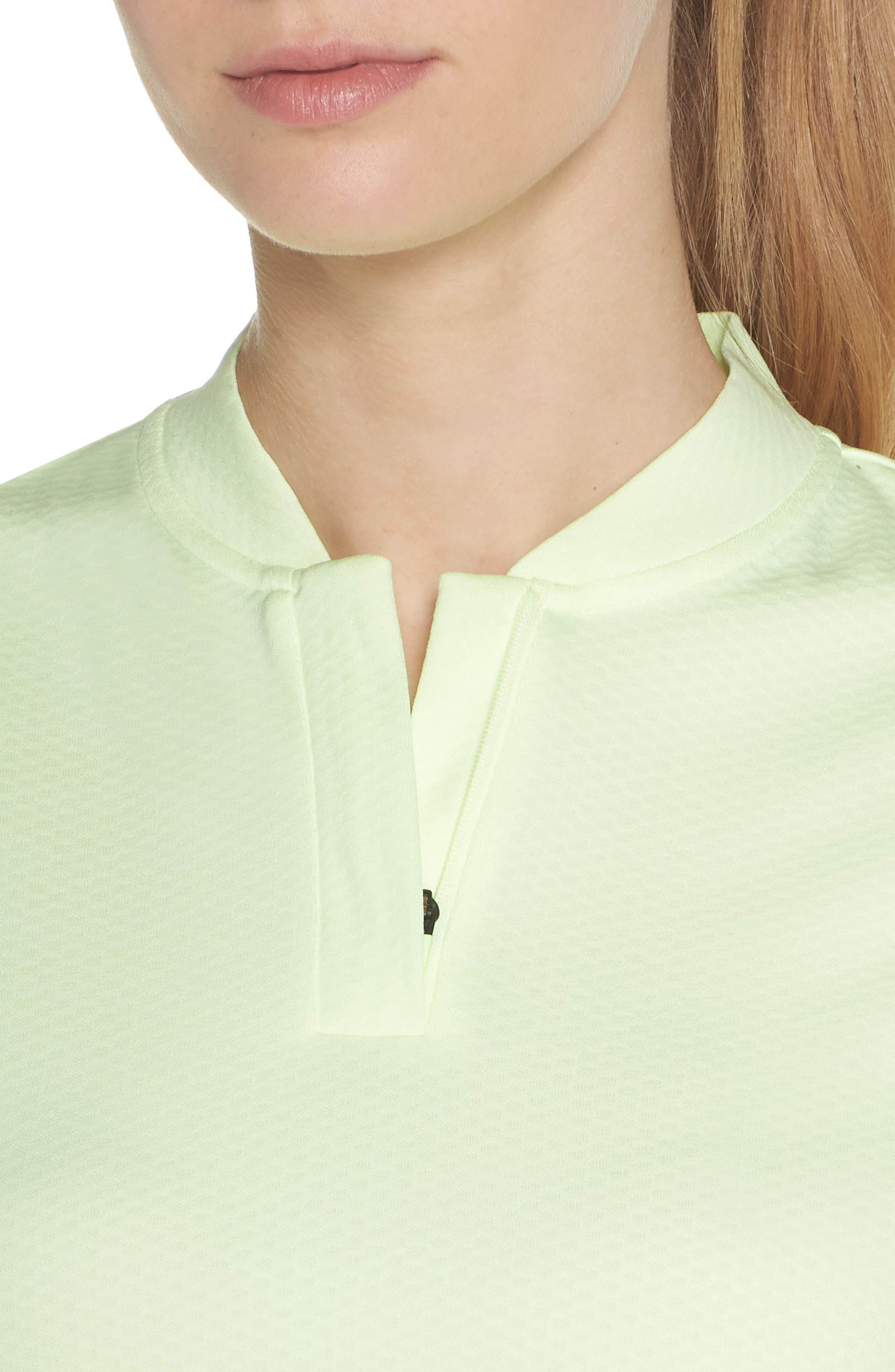 Dry Gold Polo,                             Alternate thumbnail 4, color,                             Barely Volt/ Silver