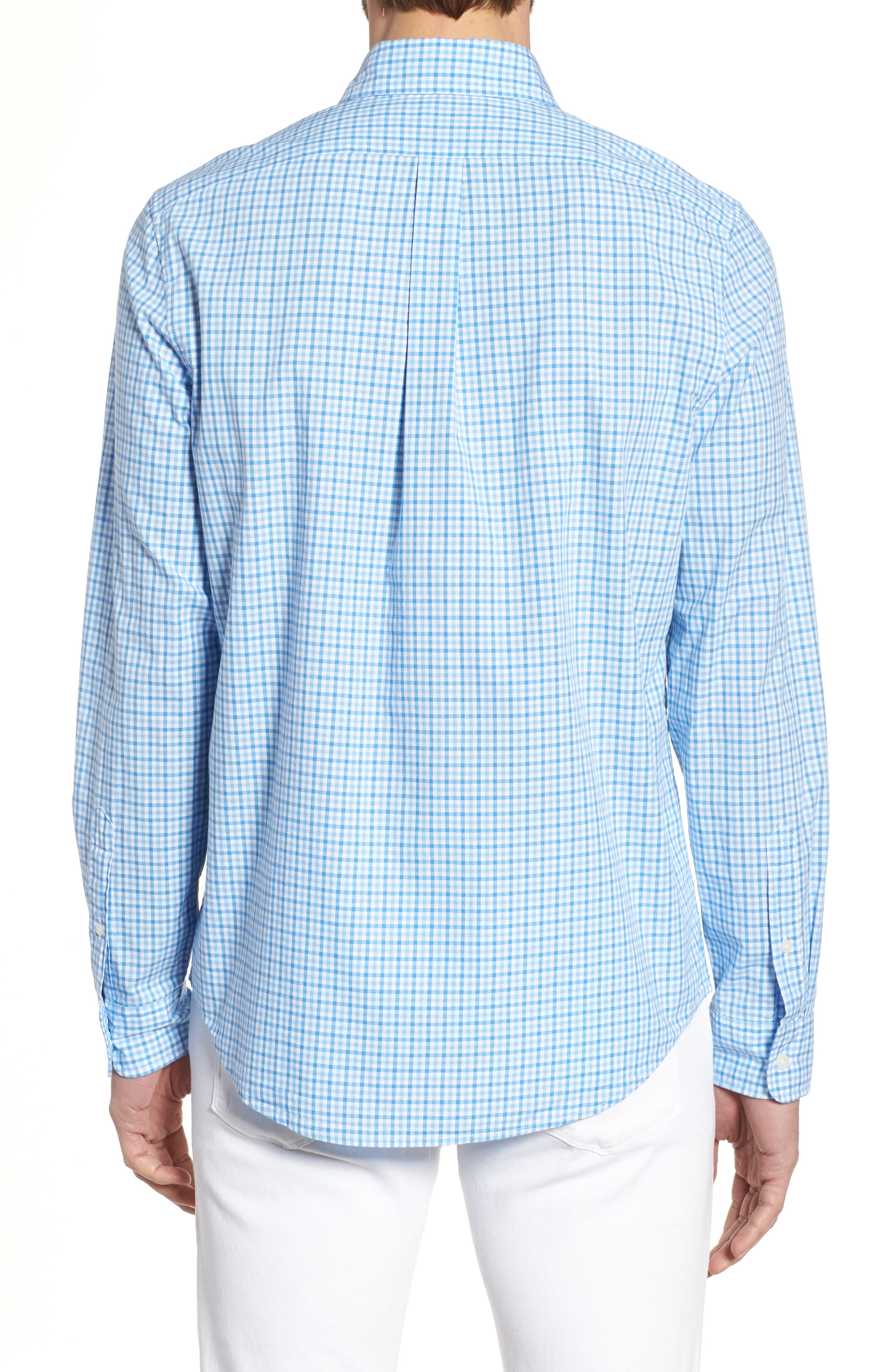 Tipsy Turtle Check Slim Fit Sport Shirt,                             Alternate thumbnail 2, color,                             Harbor Cay