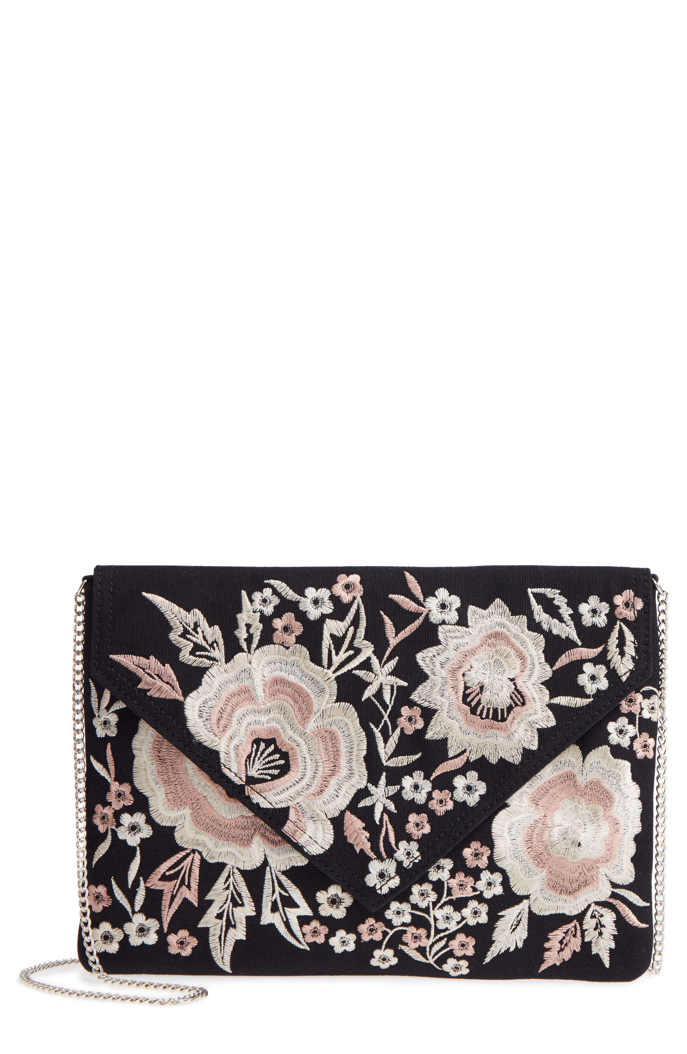Violet Ray New York Vanessa Floral Embroidered Crossbody Bag