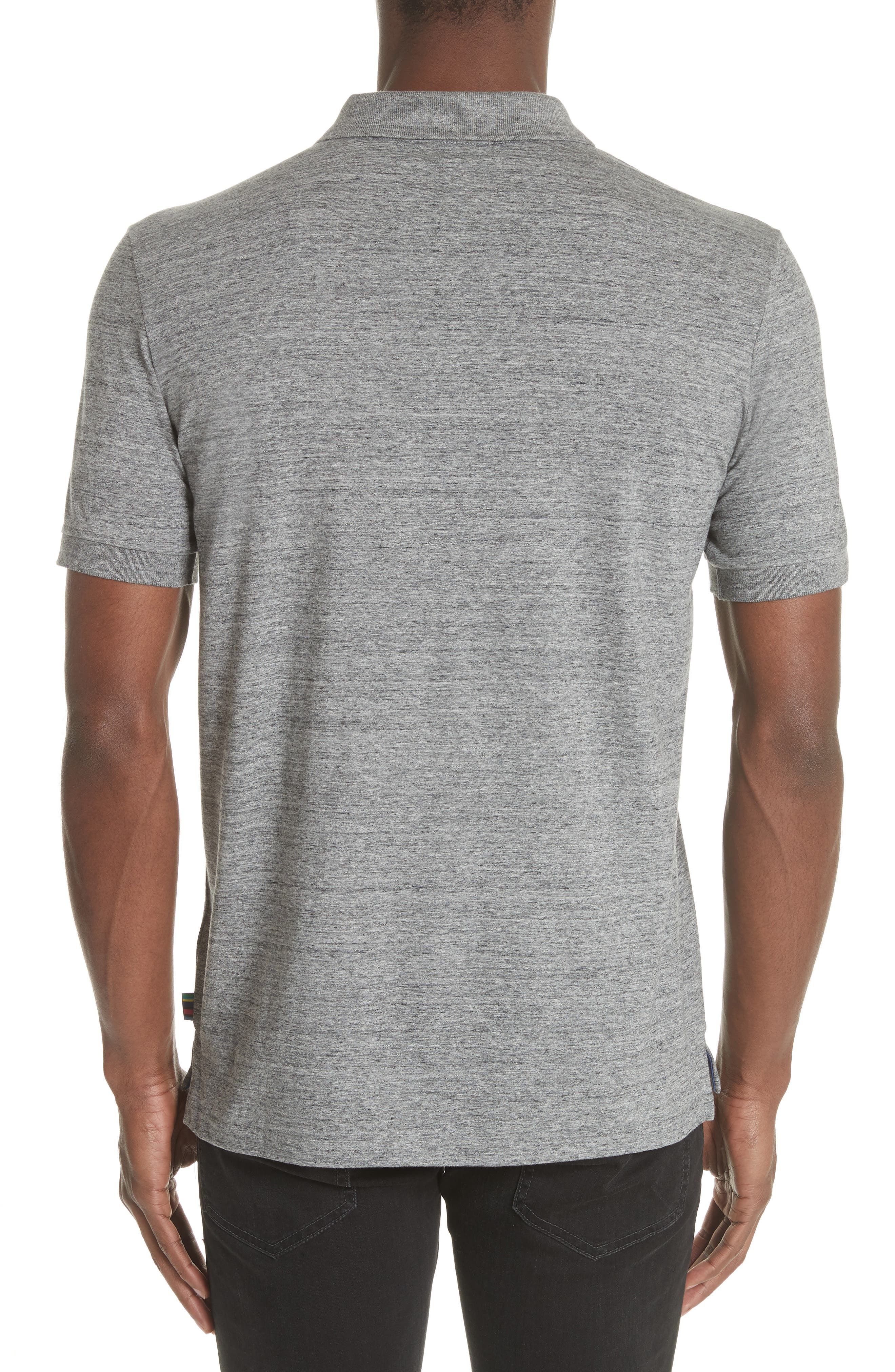 Jersey Polo,                             Alternate thumbnail 2, color,                             Grey Melange