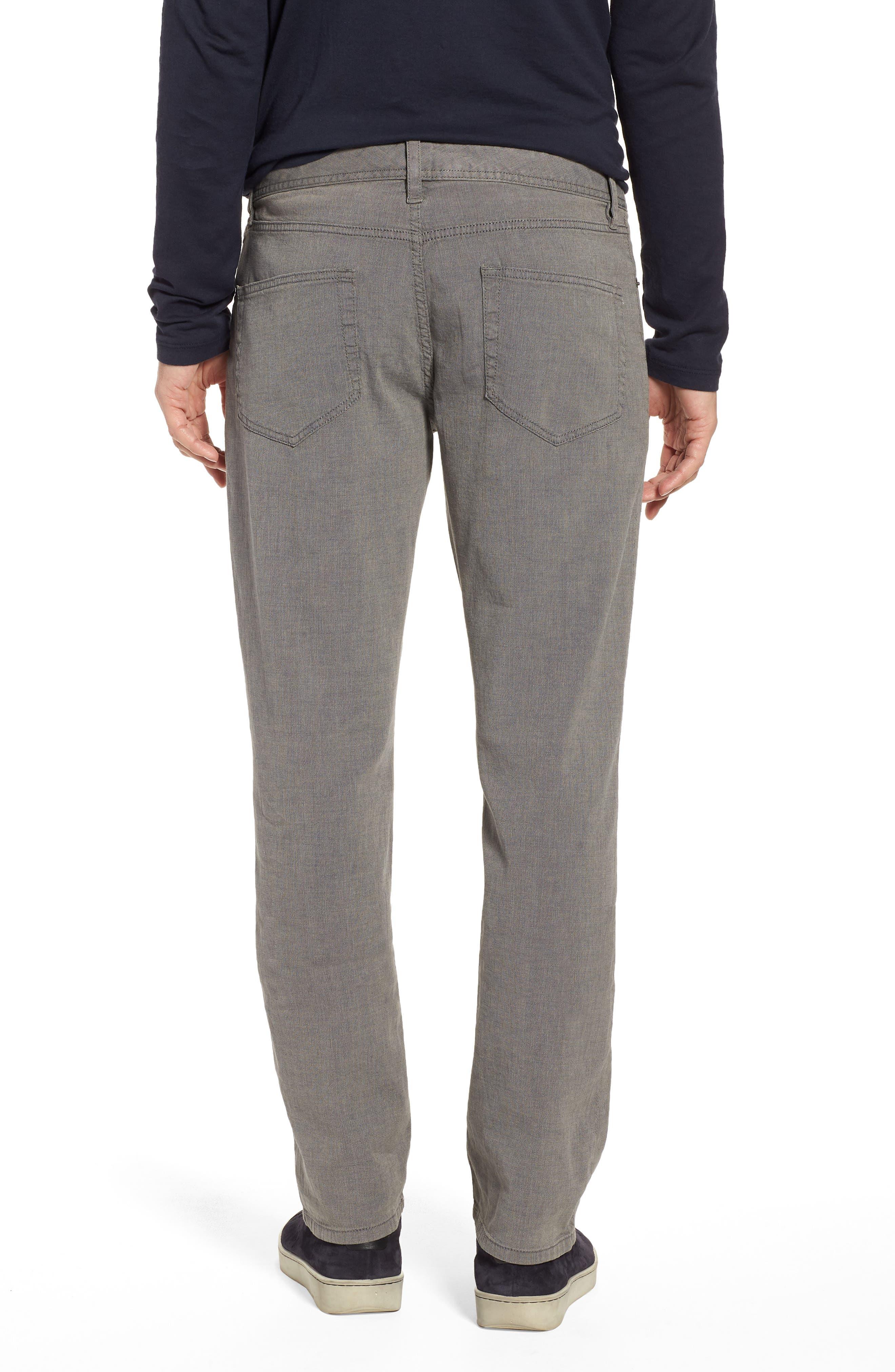 Straight Leg Five-Pocket Pants,                             Alternate thumbnail 2, color,                             Grey