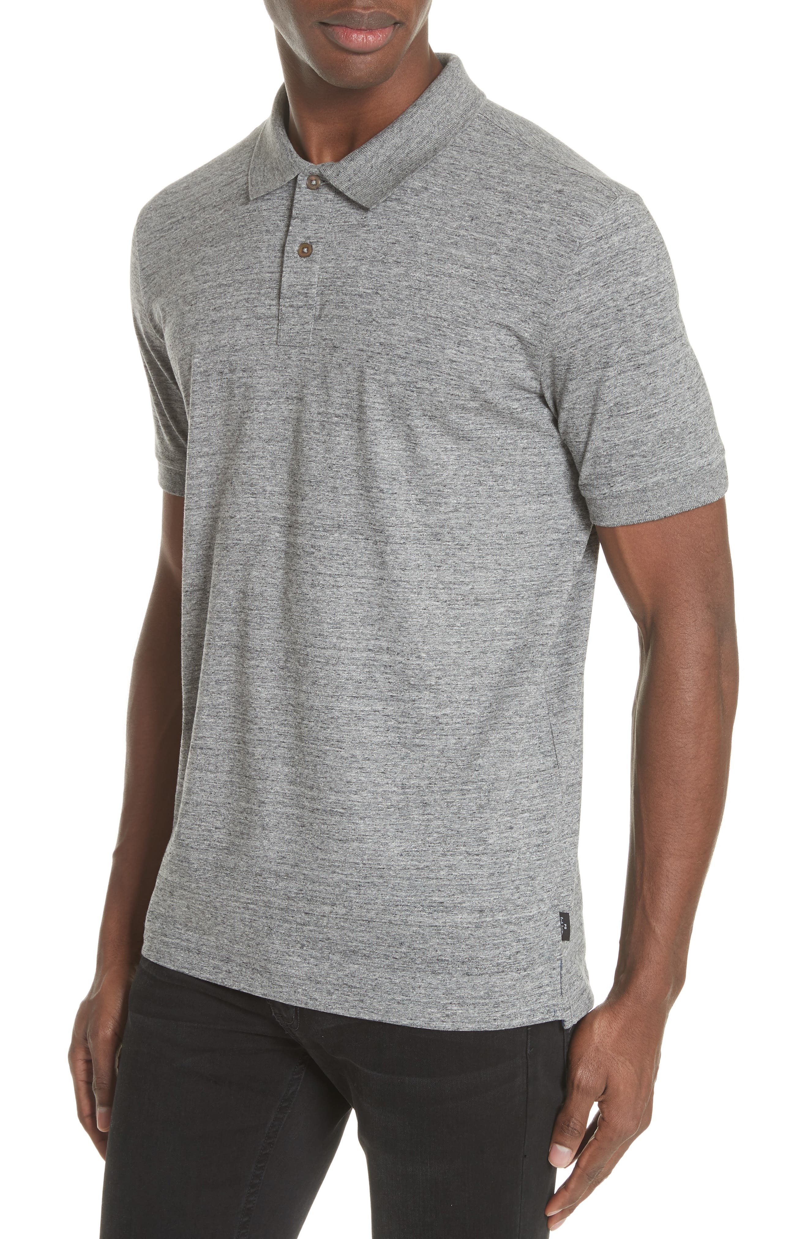 Jersey Polo,                             Alternate thumbnail 4, color,                             Grey Melange