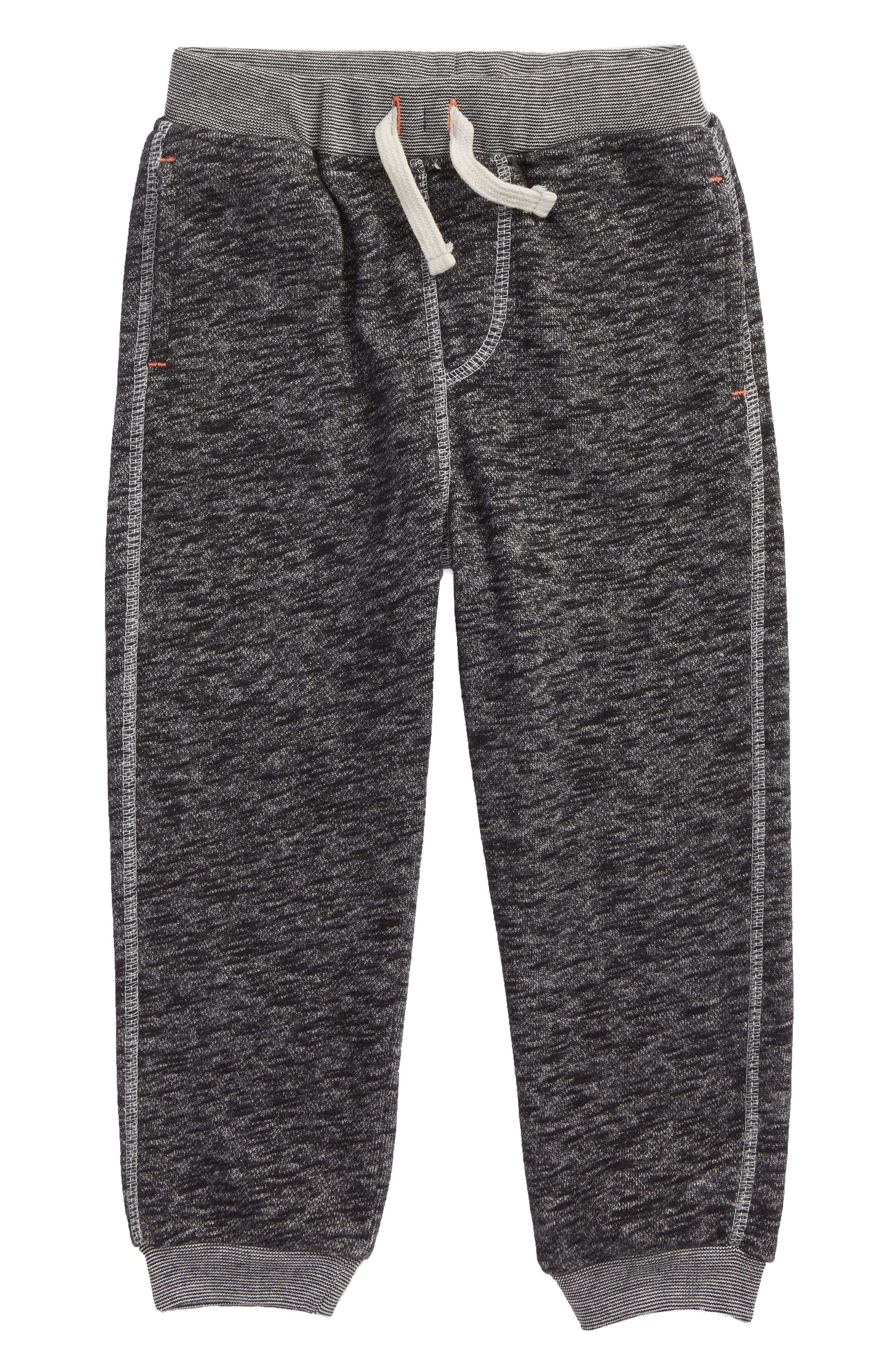 French Terry Jogger Pants,                         Main,                         color, Black
