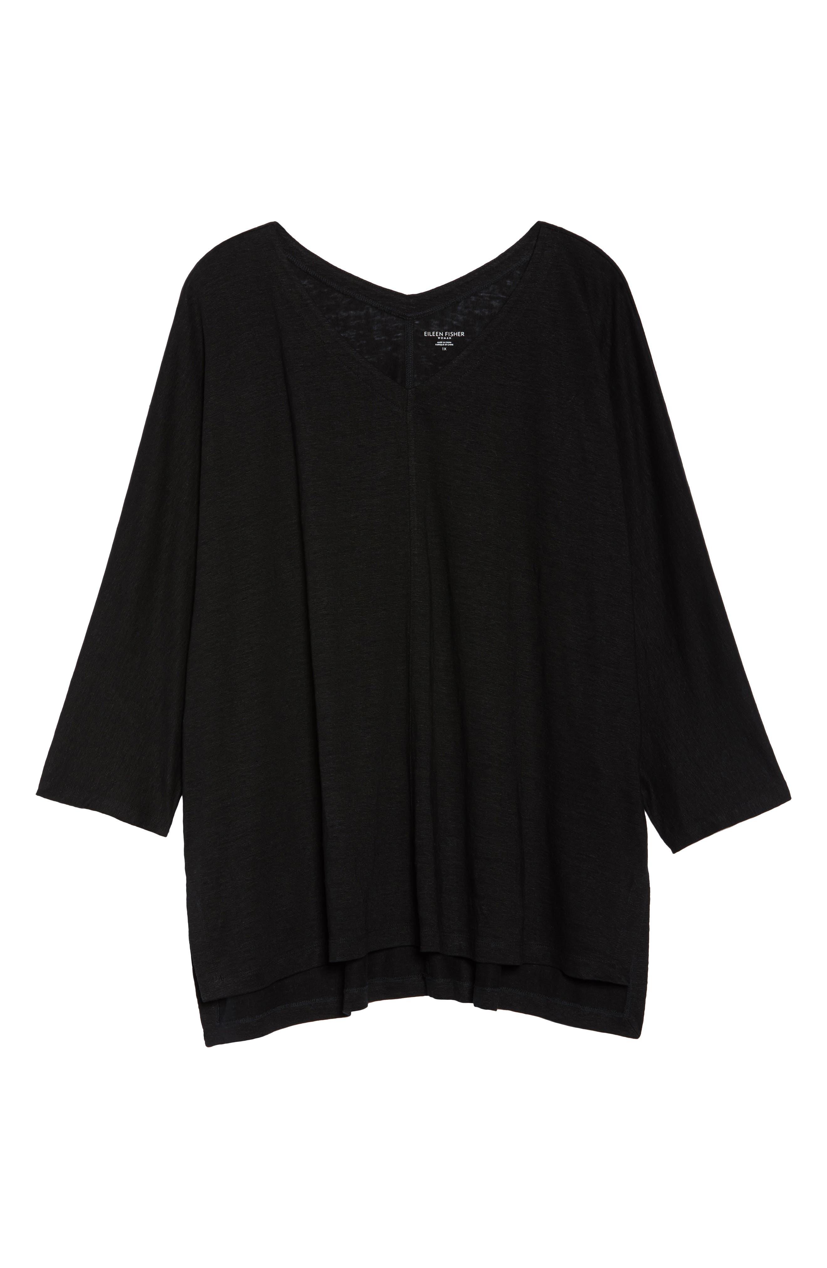 Alternate Image 6  - Eileen Fisher Organic Linen Top (Plus Size)