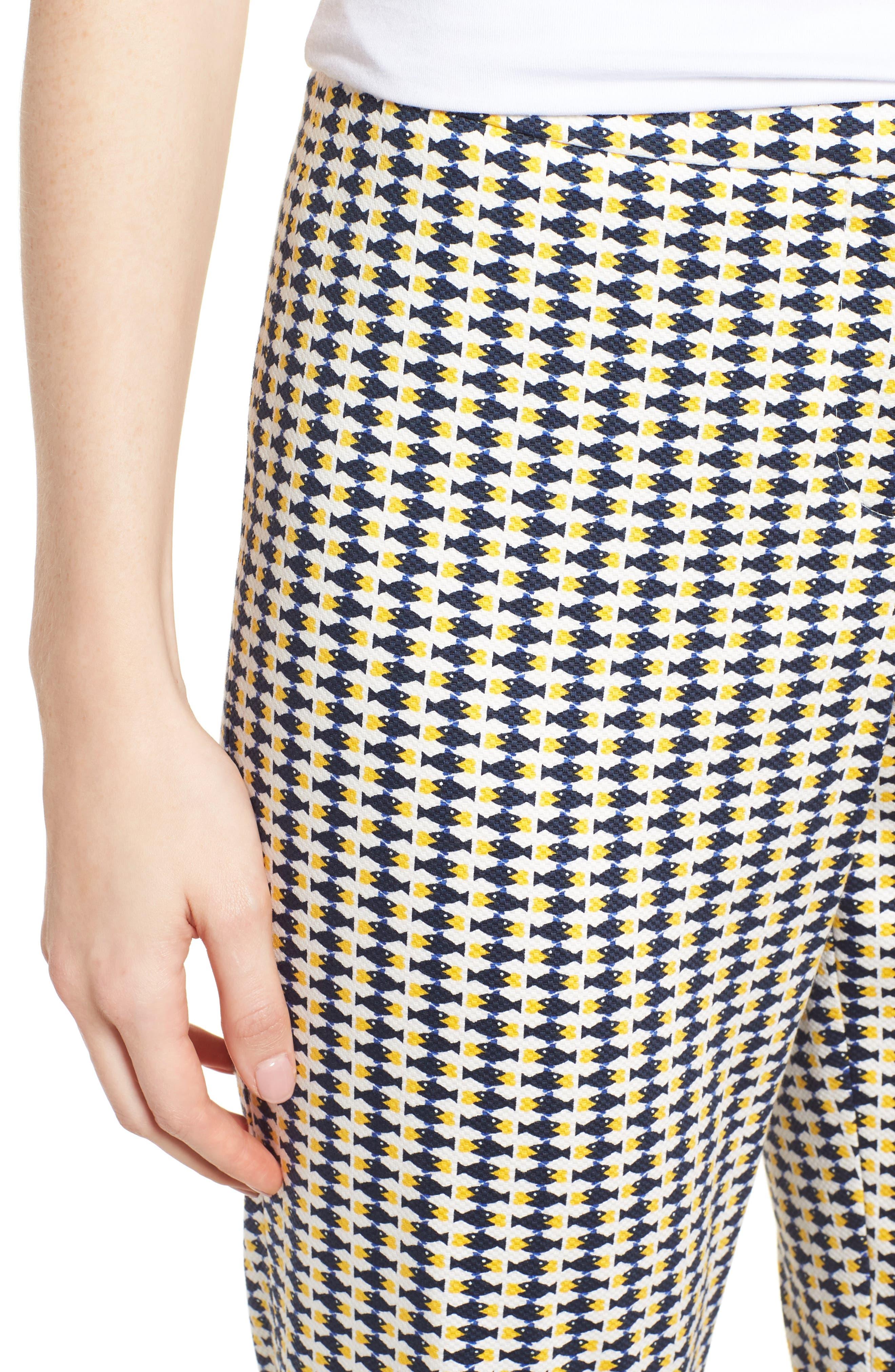 Tiluna6 Heartfish Slim Ankle Trousers,                             Alternate thumbnail 4, color,                             Heart Fishes