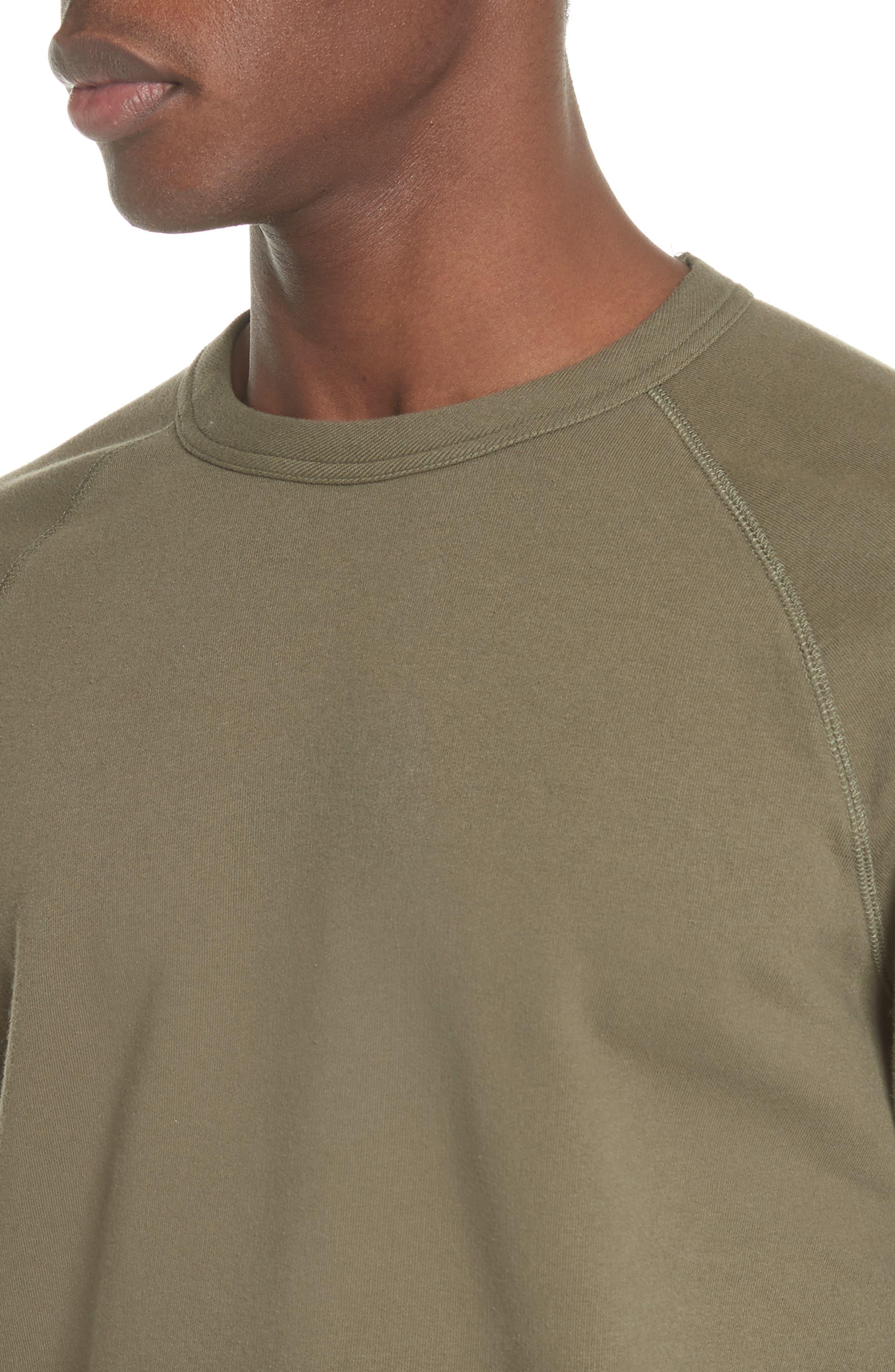 Core Crewneck Sweatshirt,                             Alternate thumbnail 4, color,                             Olive