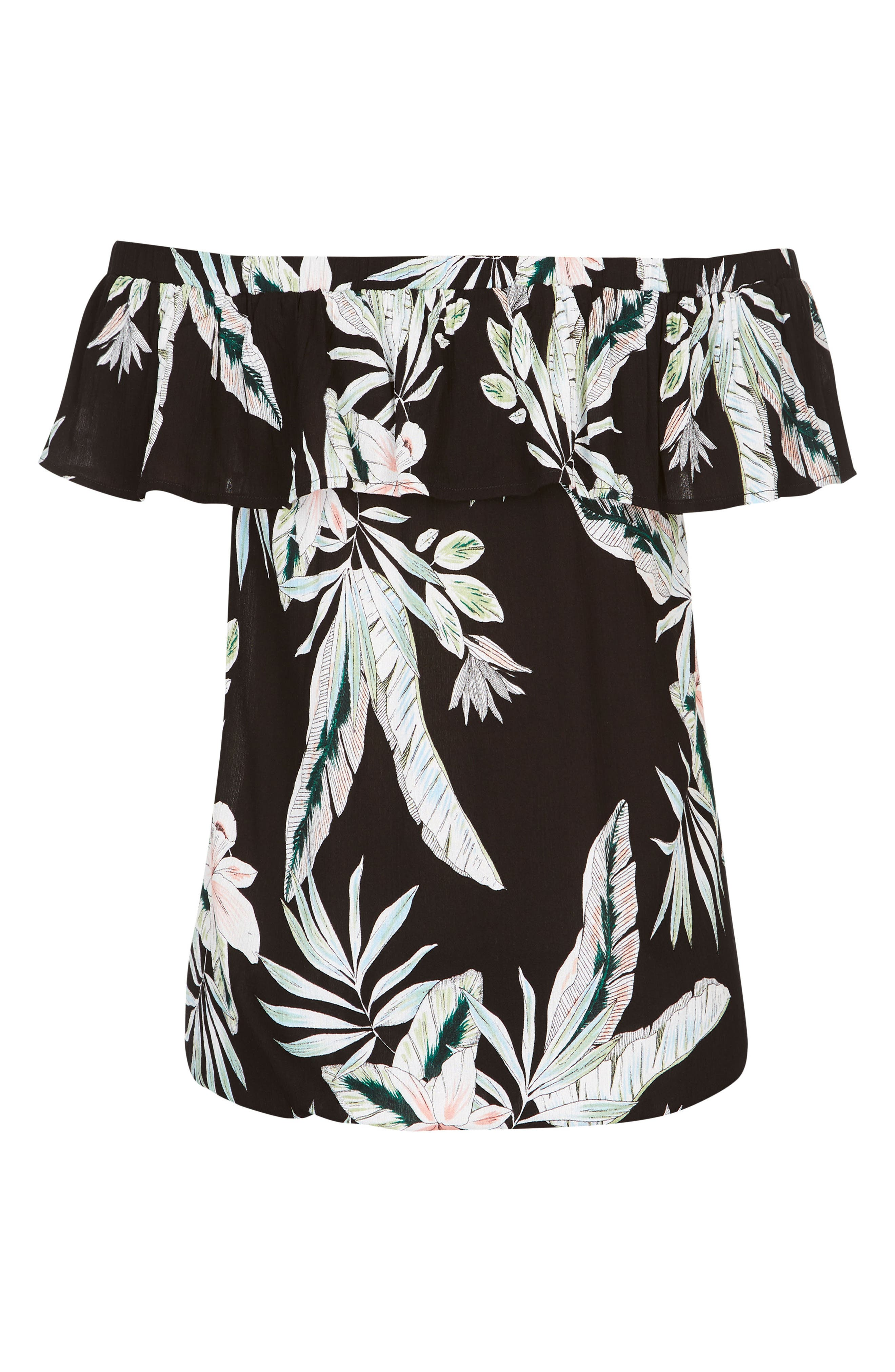 Oahu Orchid Off the Shoulder Top,                             Alternate thumbnail 3, color,                             Oahu Orchid