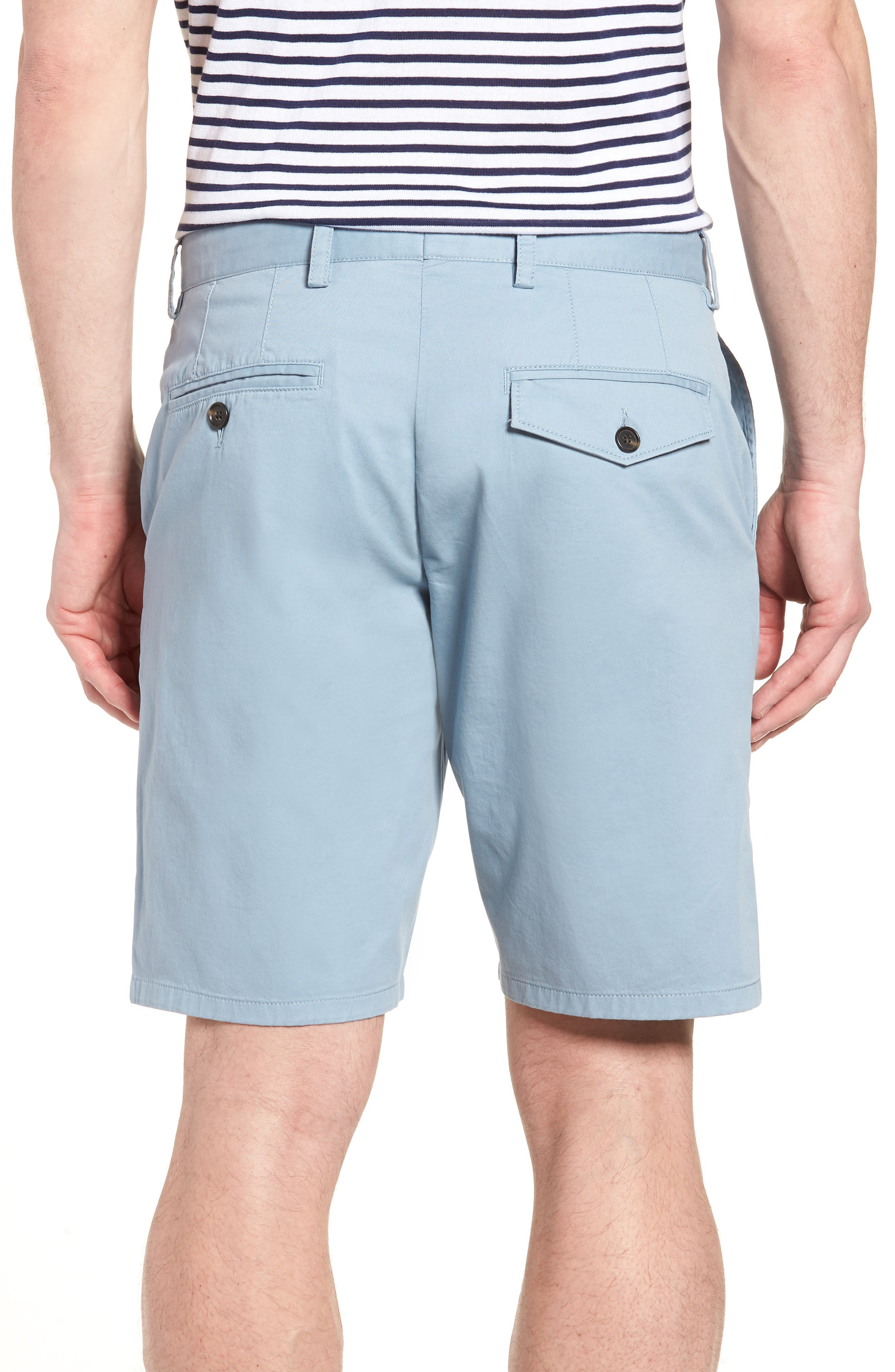 Machine Gun Stretch Cotton Shorts,                             Alternate thumbnail 2, color,                             Ashley Blue