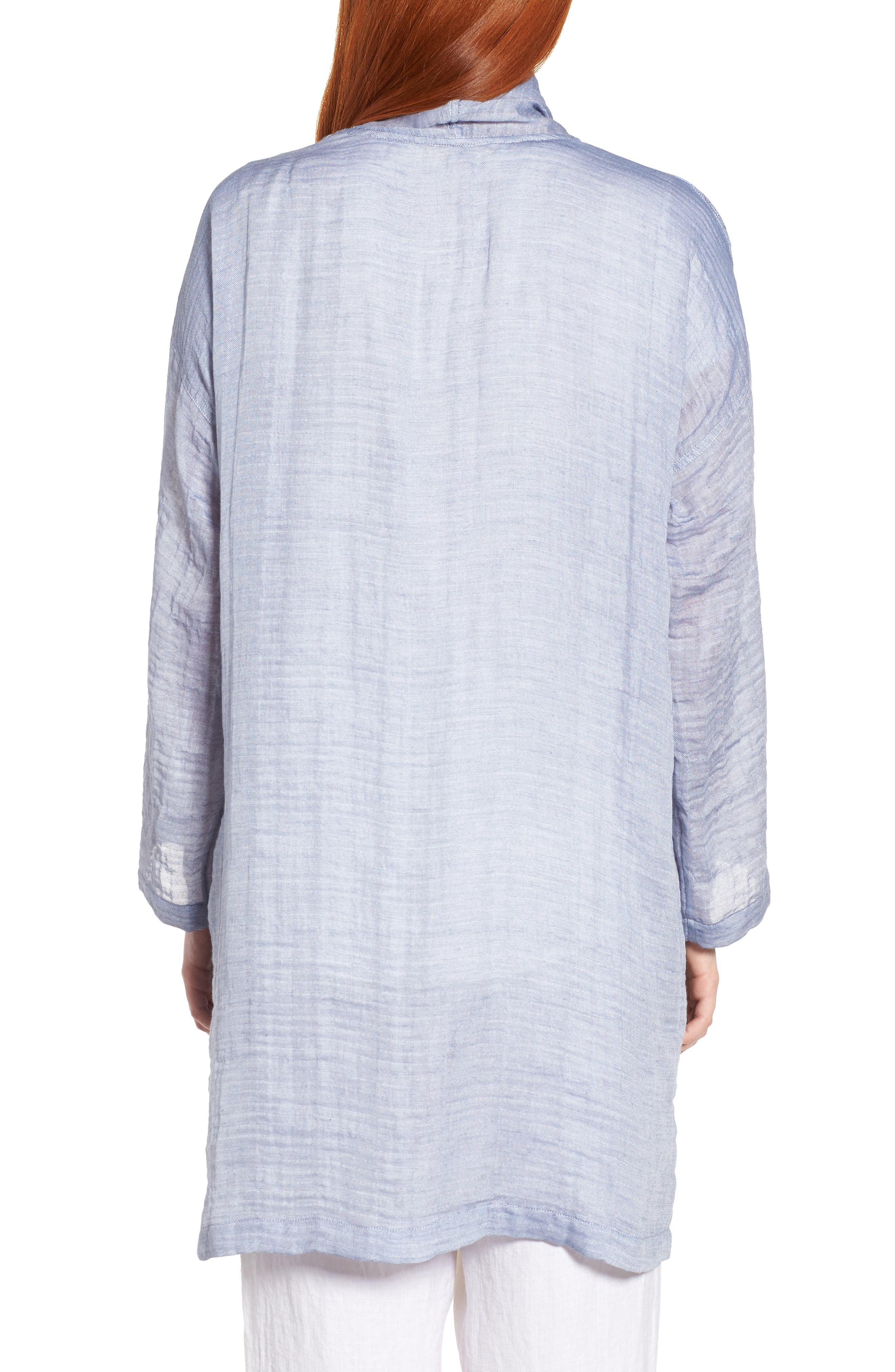 Linen Blend Kimono Jacket,                             Alternate thumbnail 2, color,                             Chambray