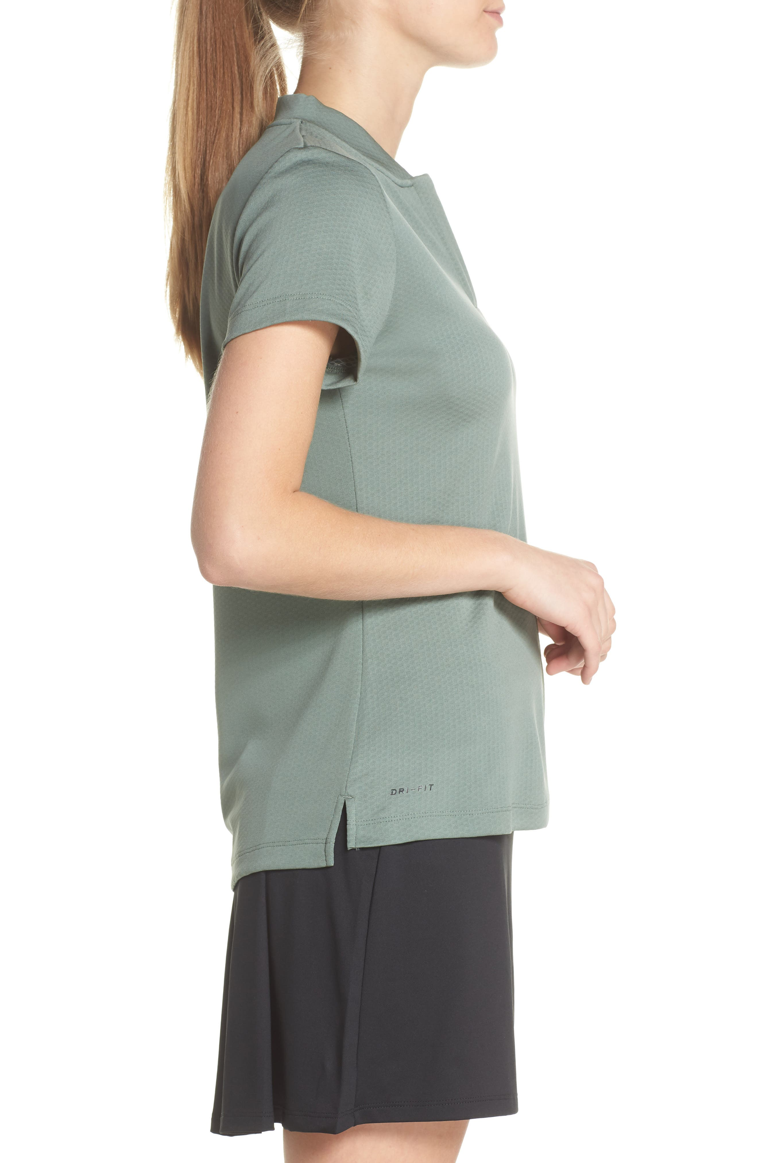 Dry Gold Polo,                             Alternate thumbnail 3, color,                             Clay Green/ Black