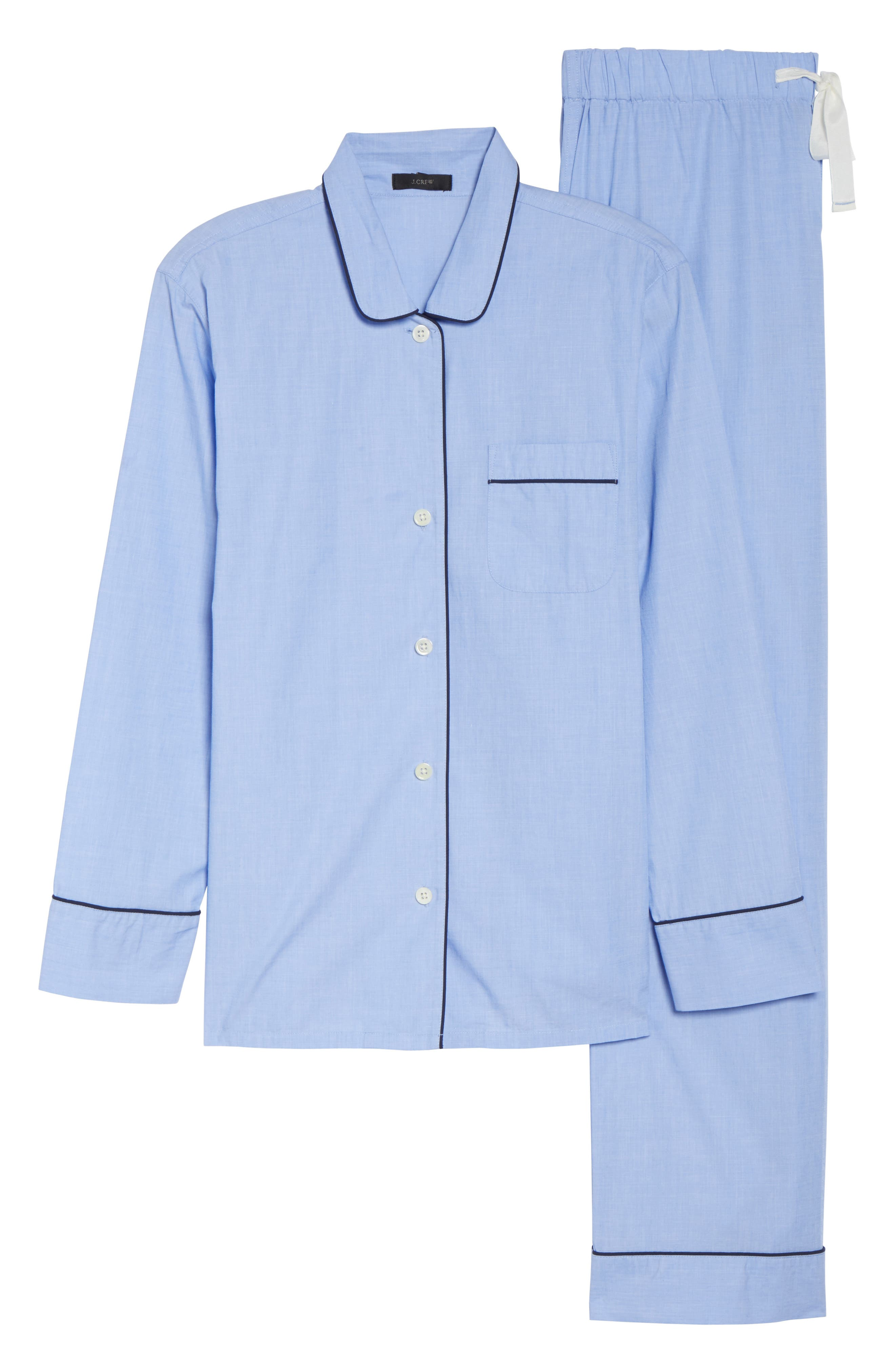 J.Crew Vintage Cotton Pajamas,                             Alternate thumbnail 4, color,                             Hydrangea