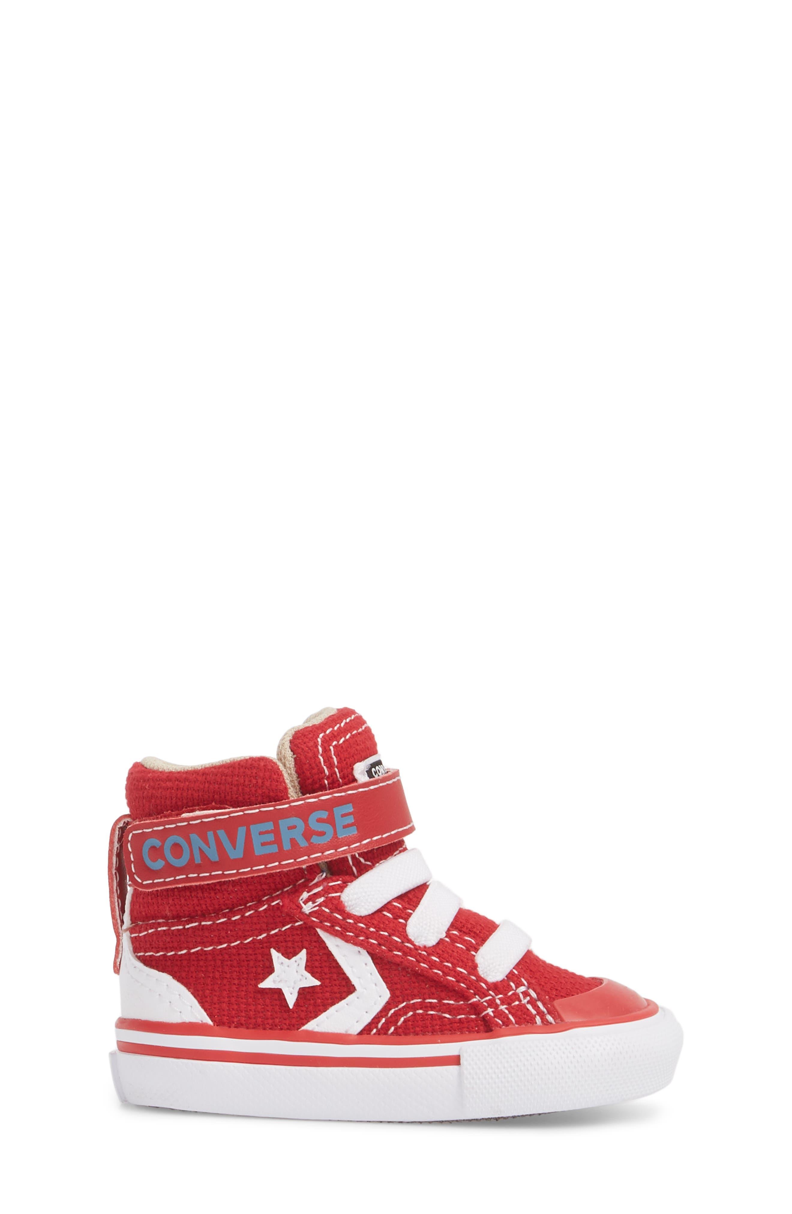 Pro Blaze High Top Sneaker,                             Alternate thumbnail 3, color,                             Gym Red
