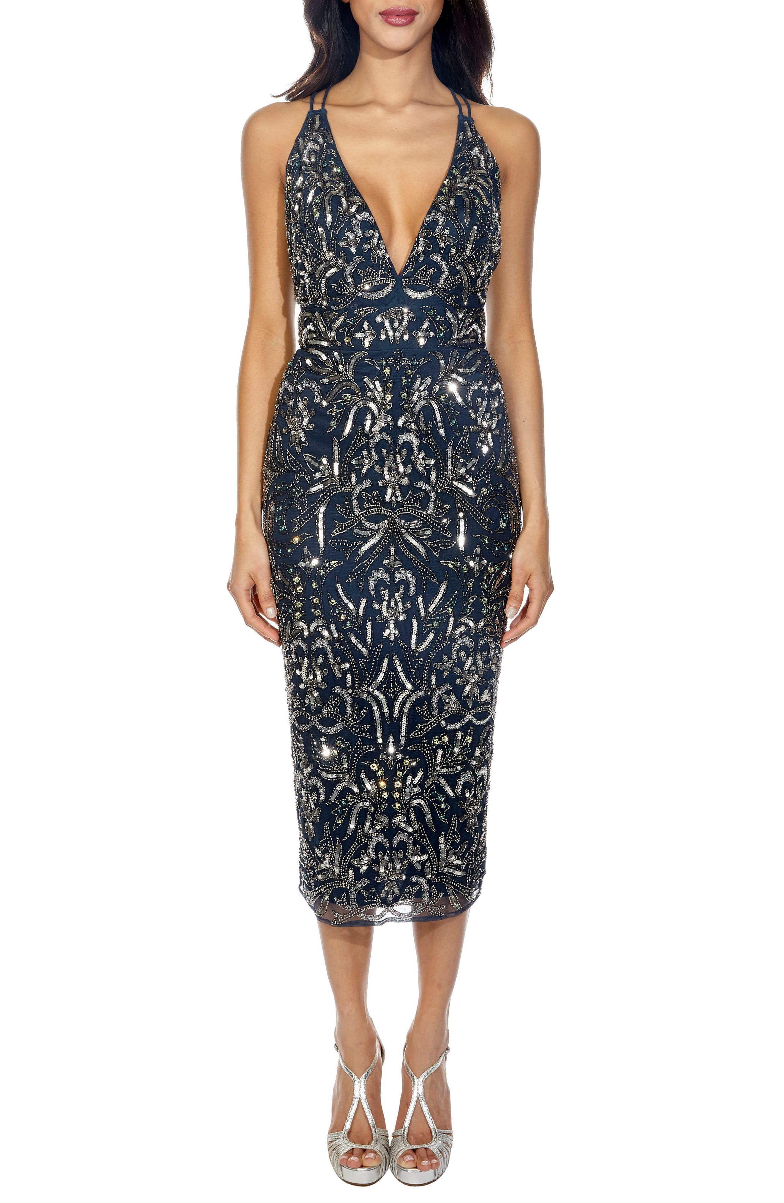 Lace & Beads Candido Sequin Dress