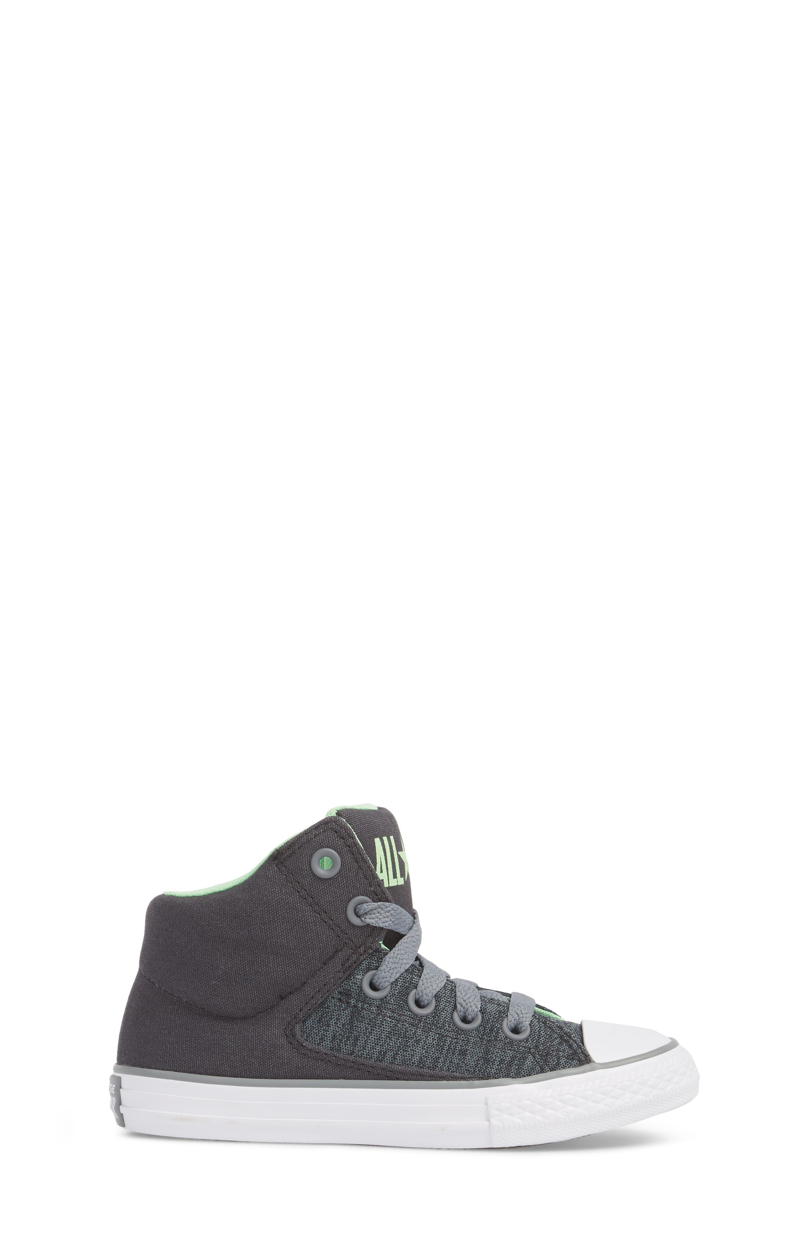 Chuck Taylor<sup>®</sup> All Star<sup>®</sup> High Street High Top Sneaker,                             Alternate thumbnail 3, color,                             Almost Black