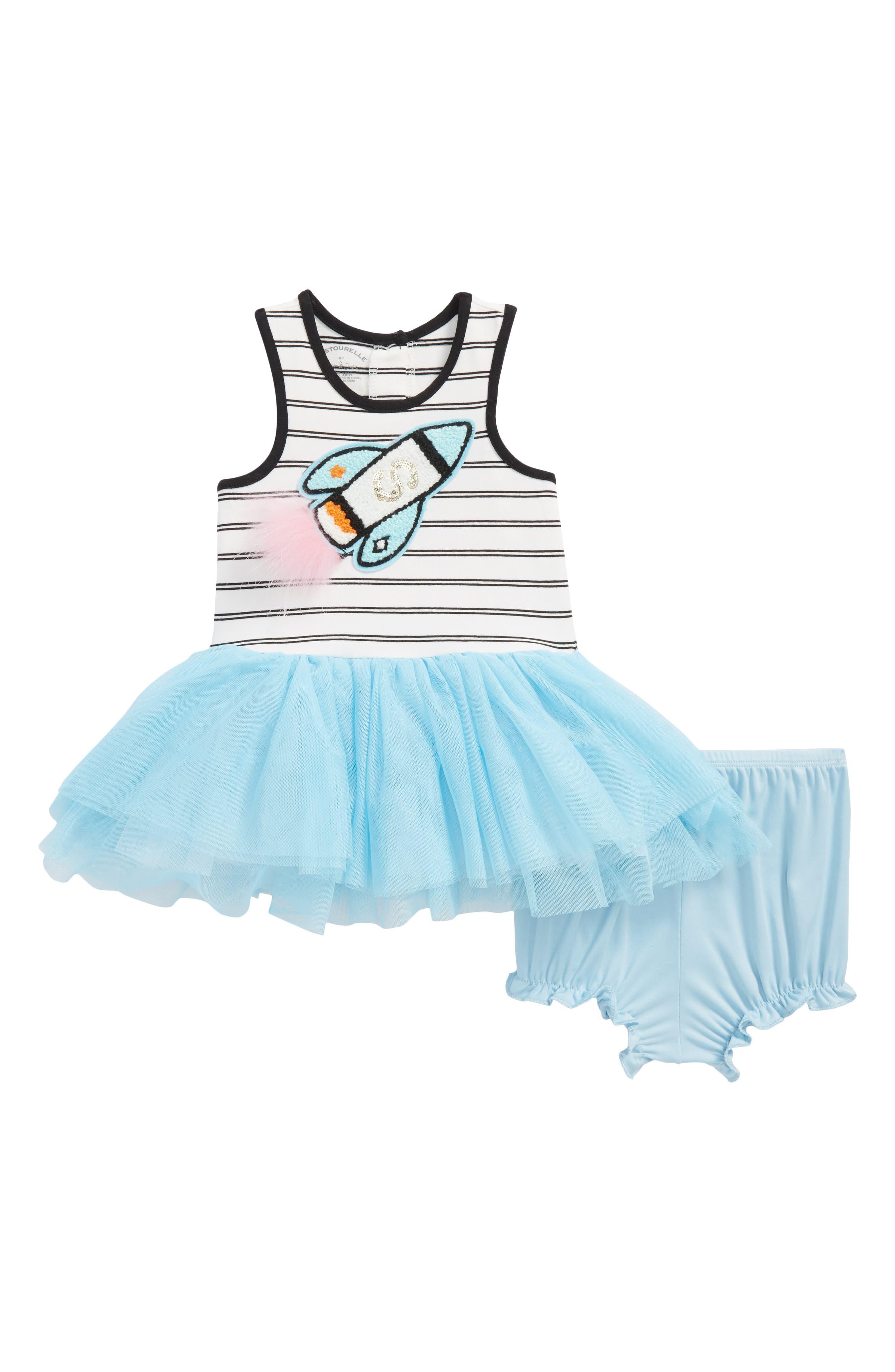 Rocket Tutu Dress,                         Main,                         color, White/ Black