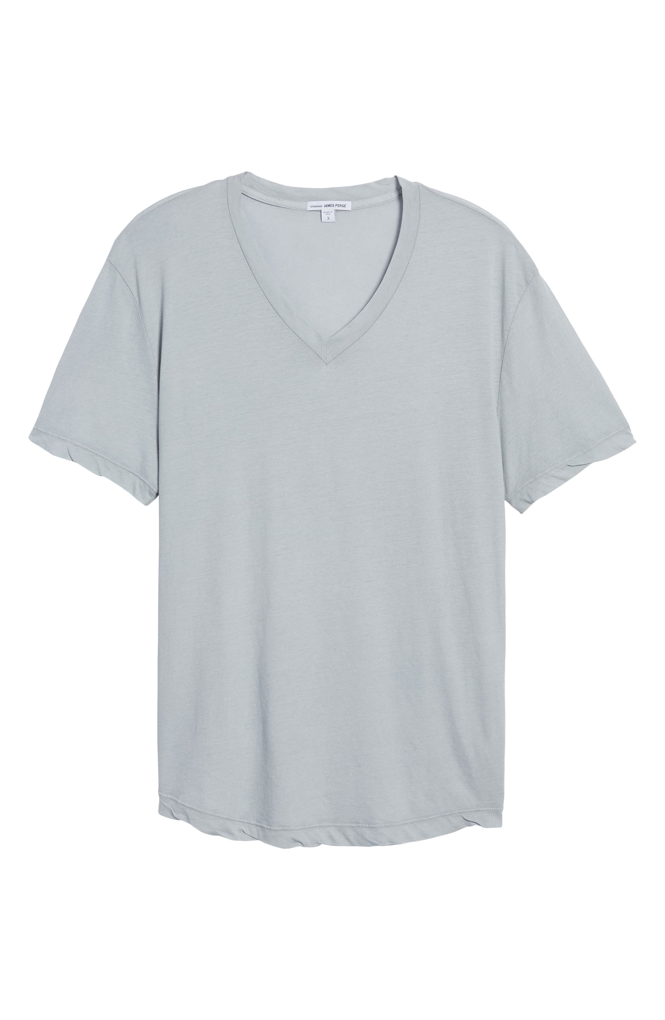 'Clear Jersey' Mélange V-Neck T-Shirt,                             Alternate thumbnail 6, color,                             Blue