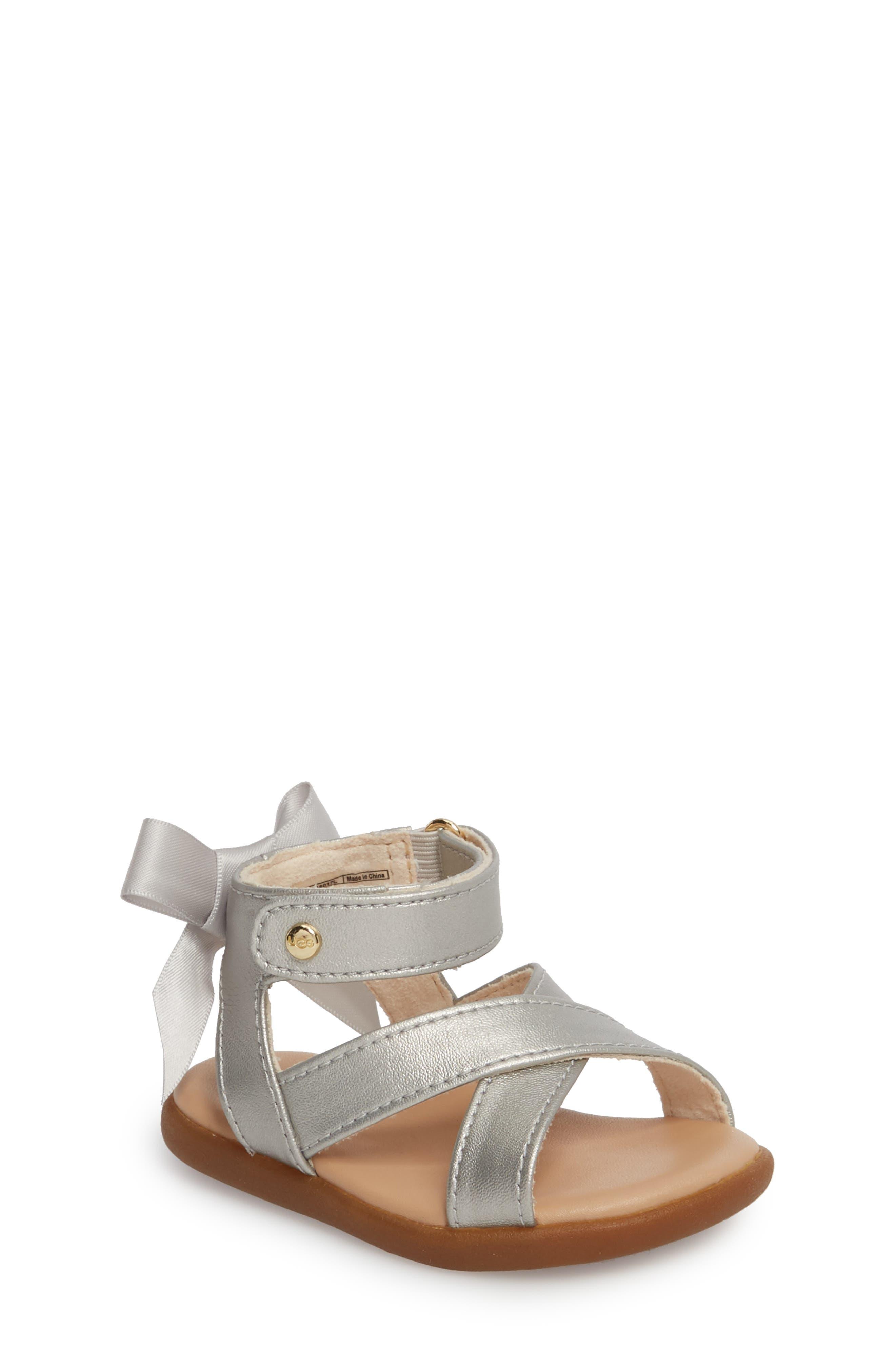 UGG® Maggiepie Sparkles Sandal (Baby & Walker)