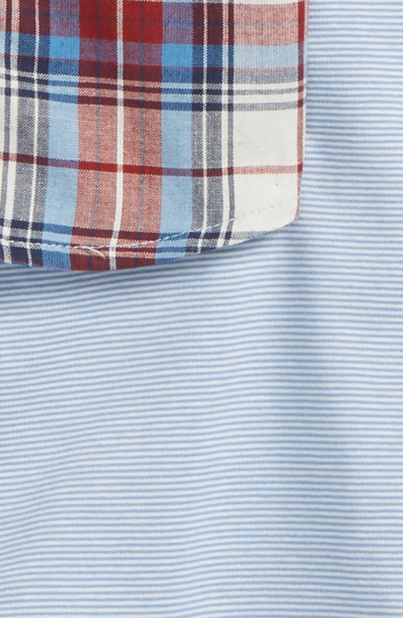 Plaid Shirt, Tank Top & Shorts Set,                             Alternate thumbnail 2, color,                             Blue Multi