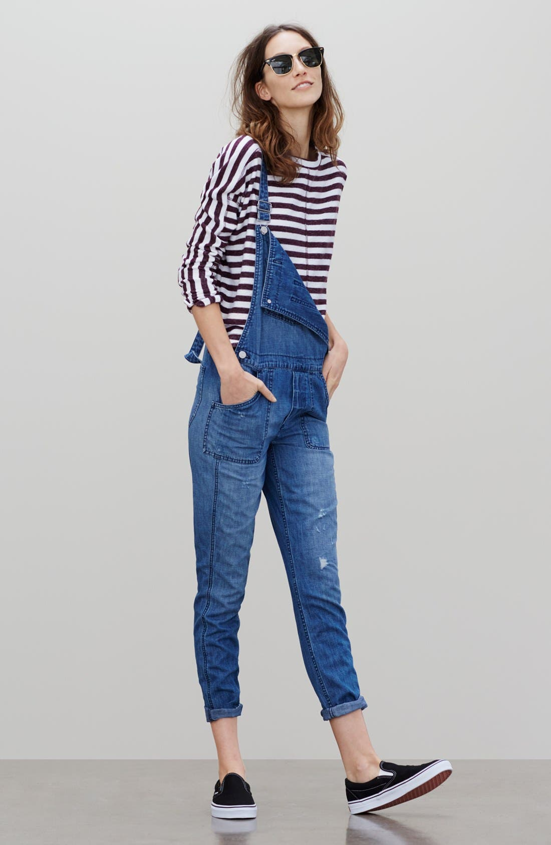 Alternate Image 5  - Madewell 'Park' Denim Overalls (Dixon)