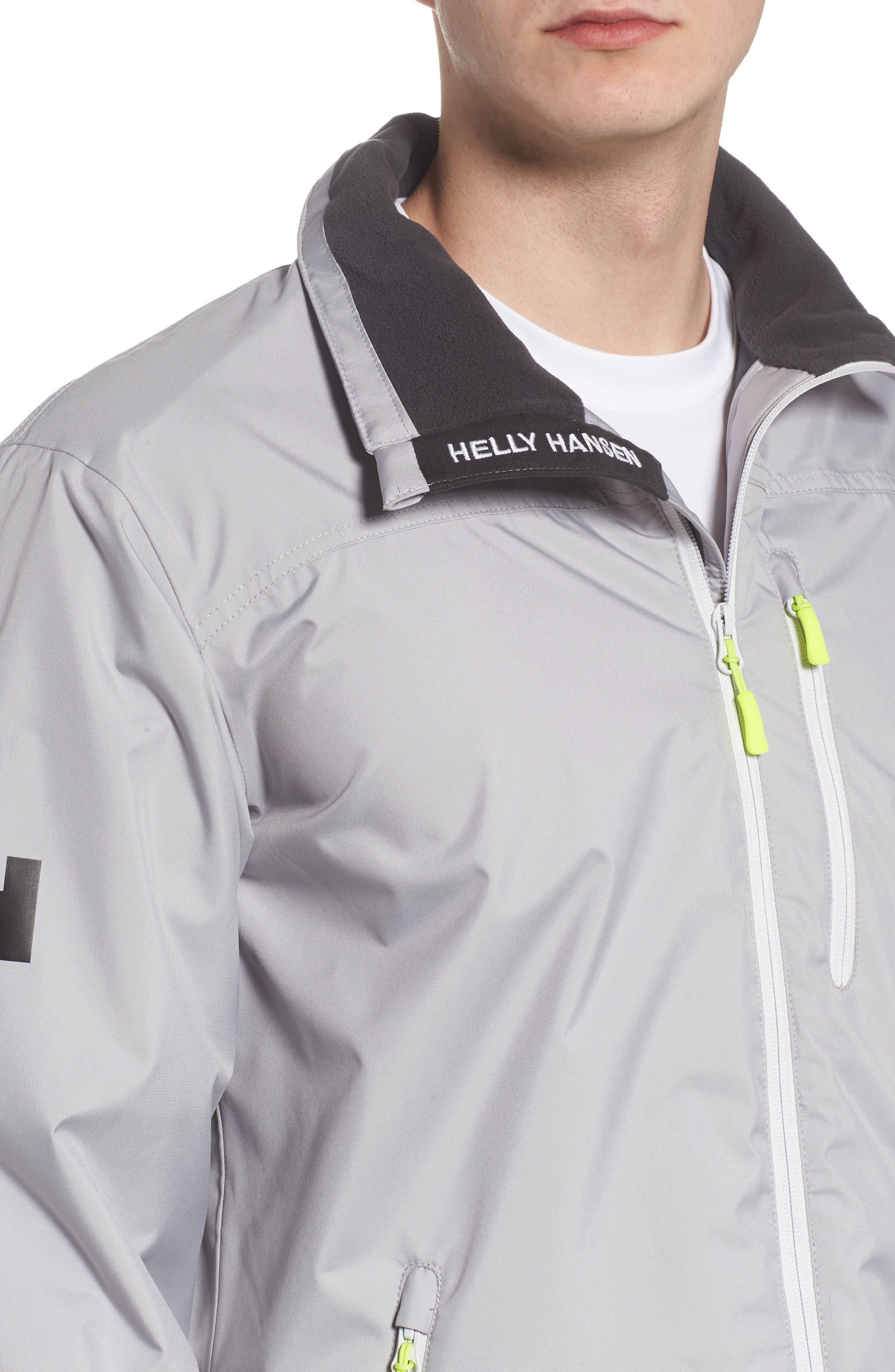 'Crew' Waterproof & Windproof Jacket,                             Alternate thumbnail 4, color,                             Silver Grey