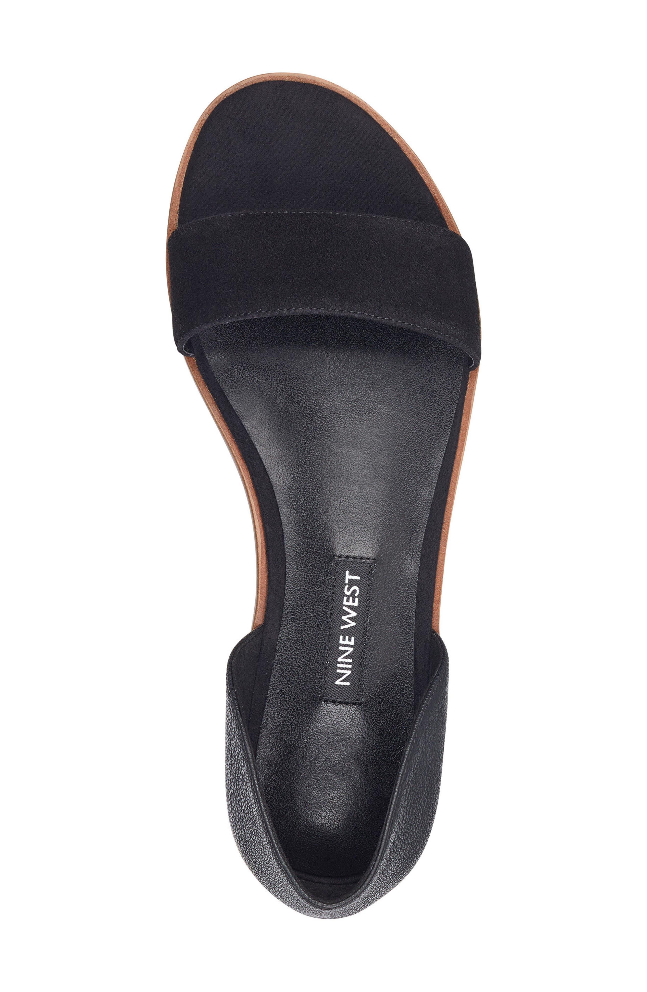 Maris Sandal,                             Alternate thumbnail 5, color,                             Black/ Black Leather