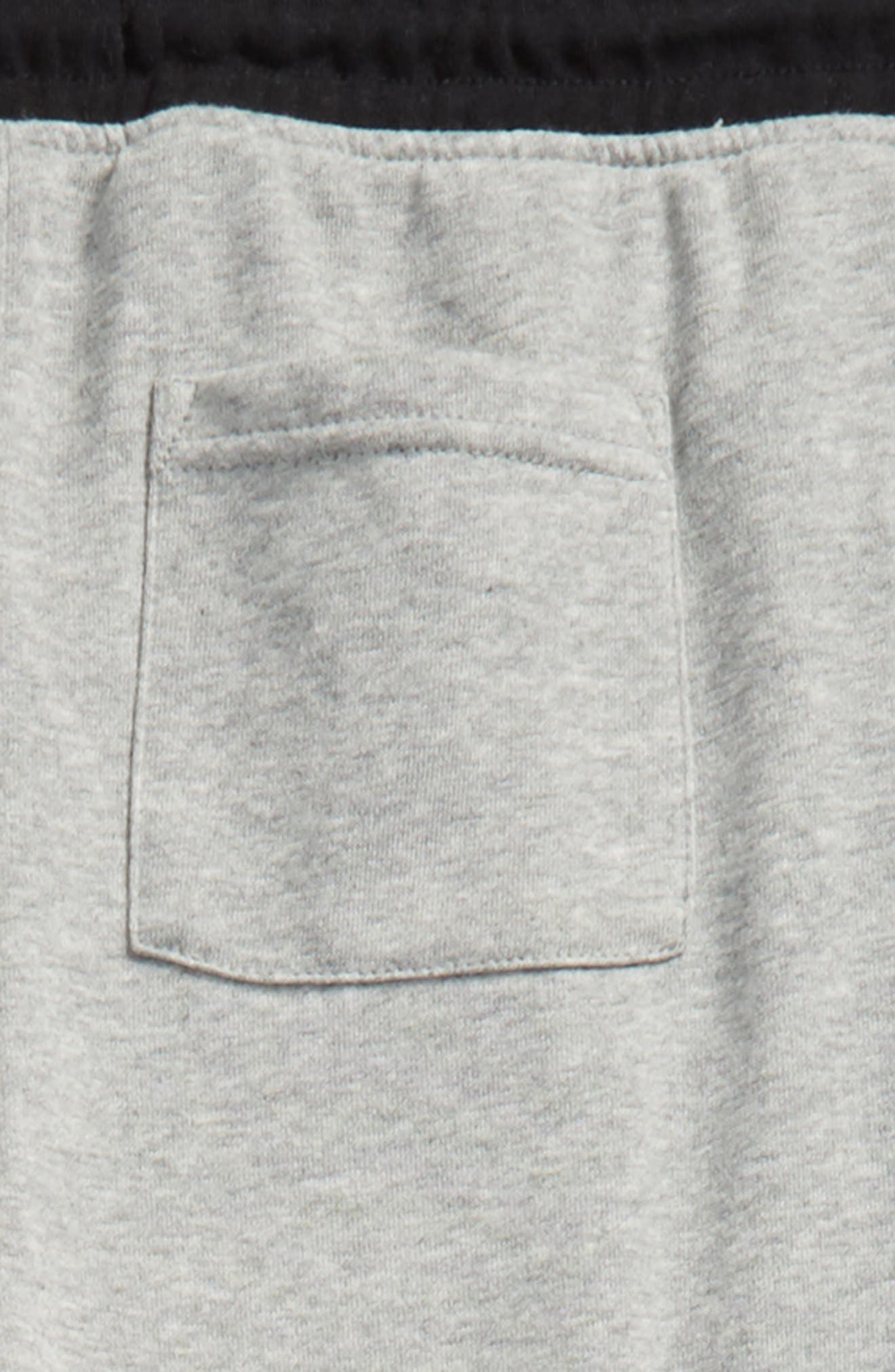Jogger Pants,                             Alternate thumbnail 3, color,                             Heather Grey/ Black