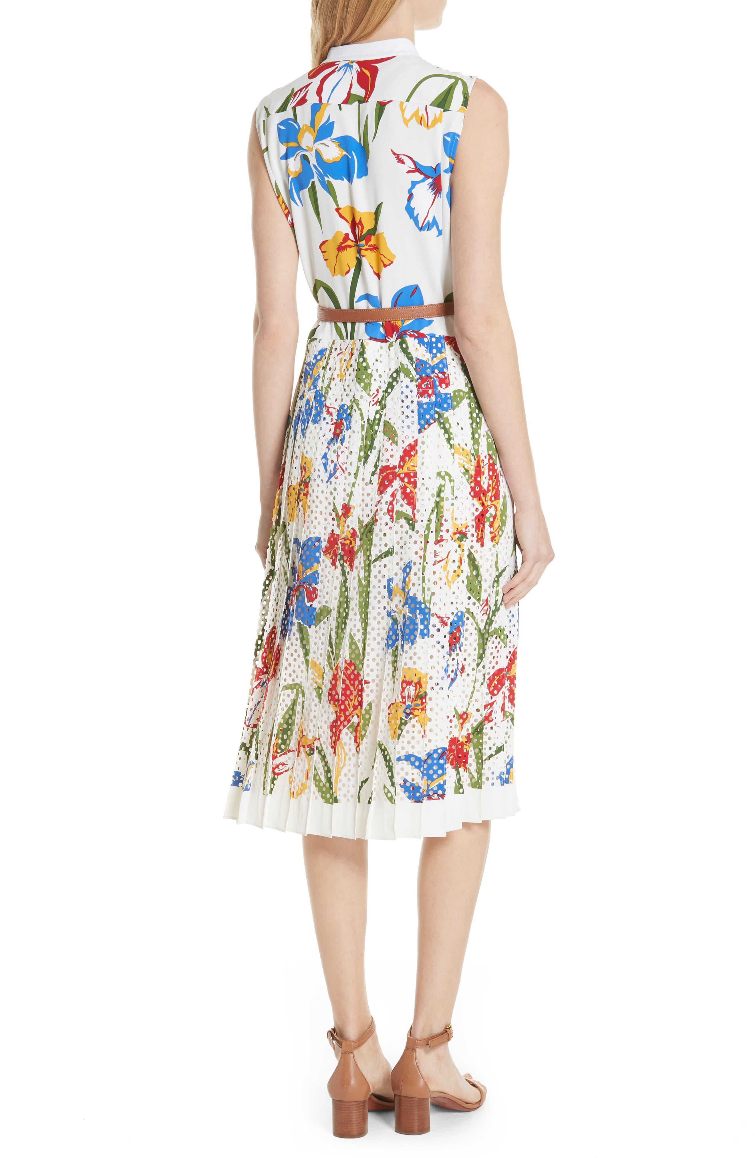 Carine Floral Dress,                             Alternate thumbnail 2, color,                             Painted Iris