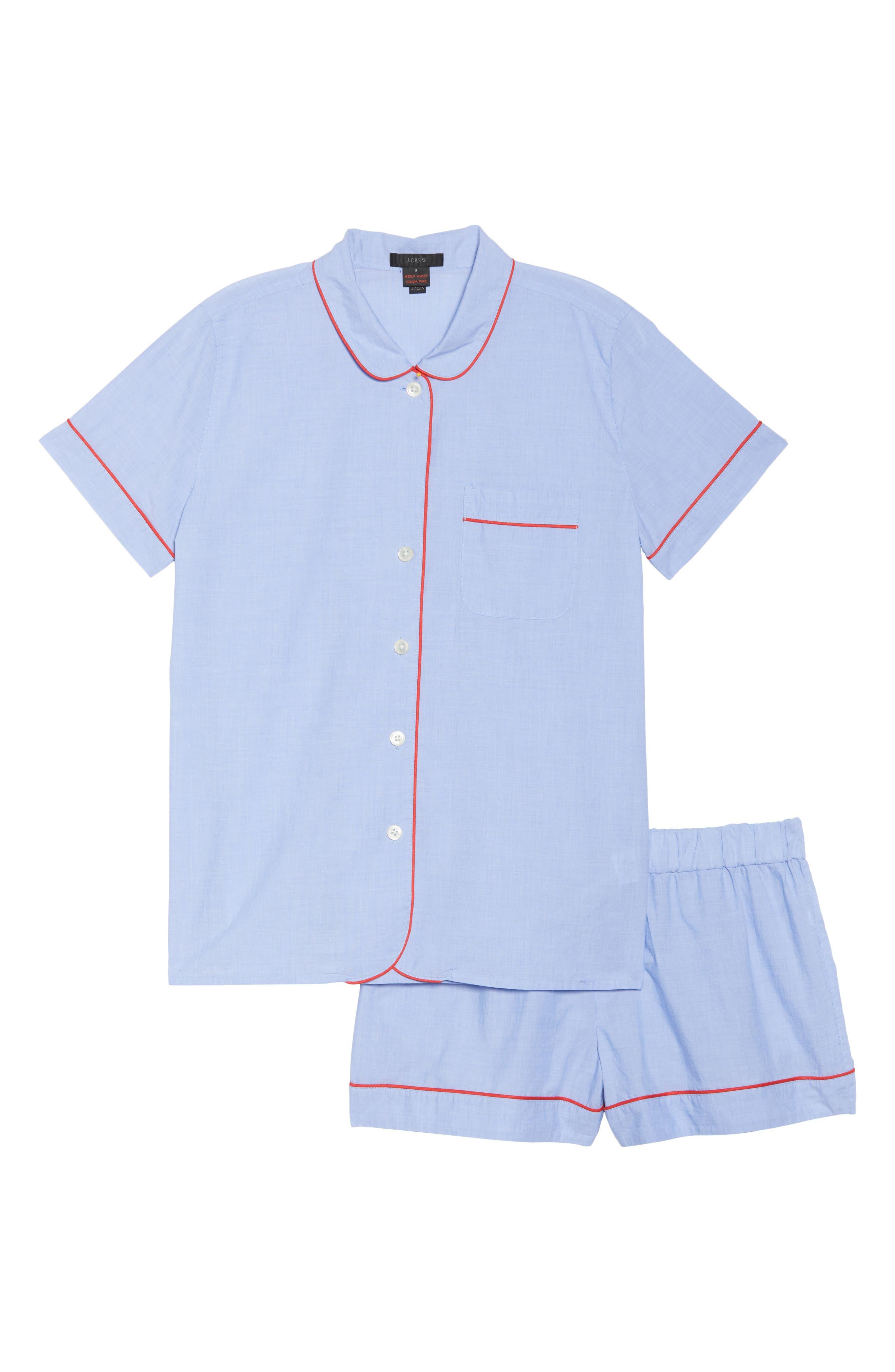 Tipped Pajama Set,                             Alternate thumbnail 5, color,                             Hydrangea