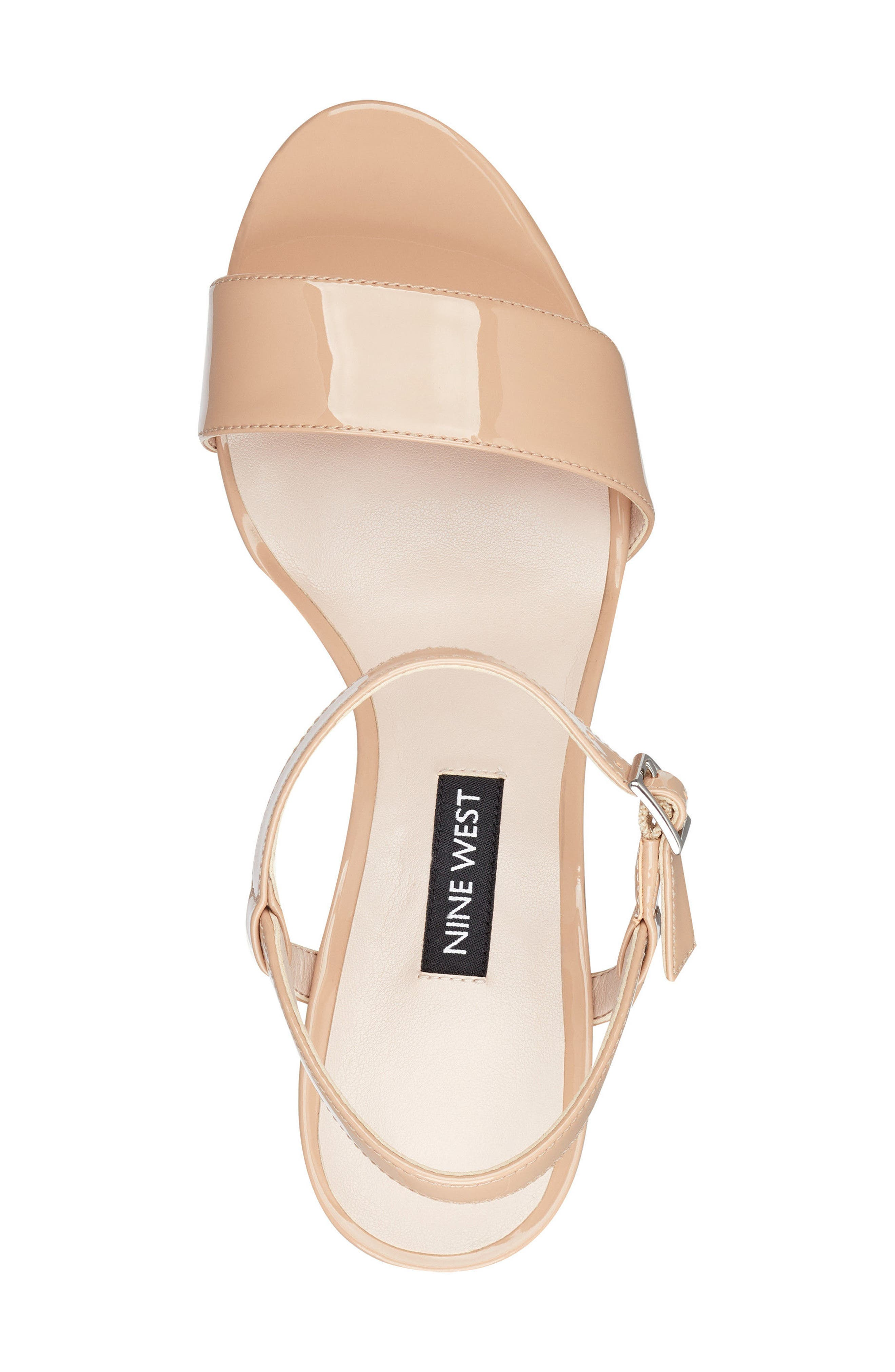 Feisty Ankle Strap Sandal,                             Alternate thumbnail 5, color,                             Nude Suede