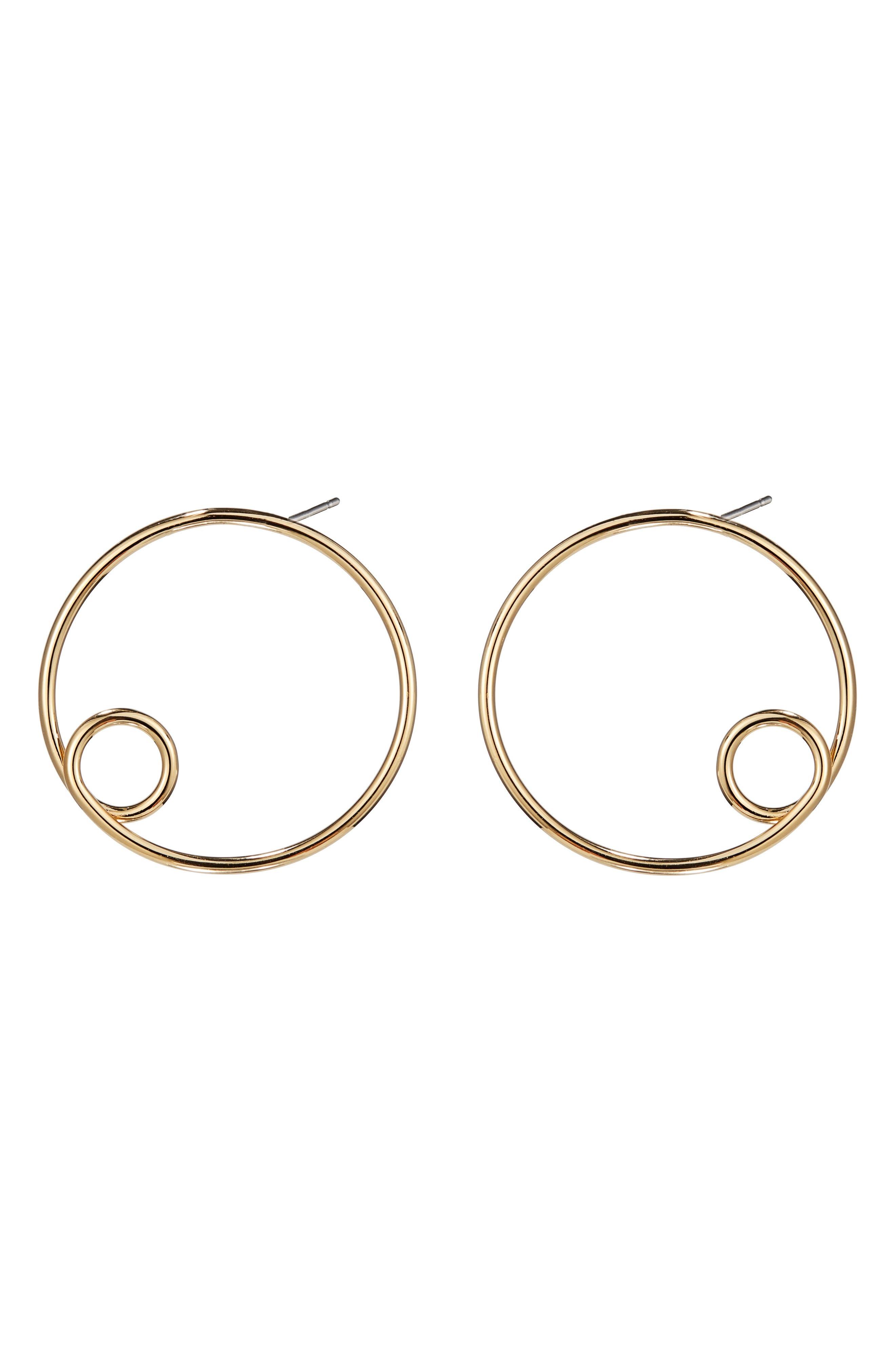 Otis Hoop Earrings,                         Main,                         color, High Polish Gold