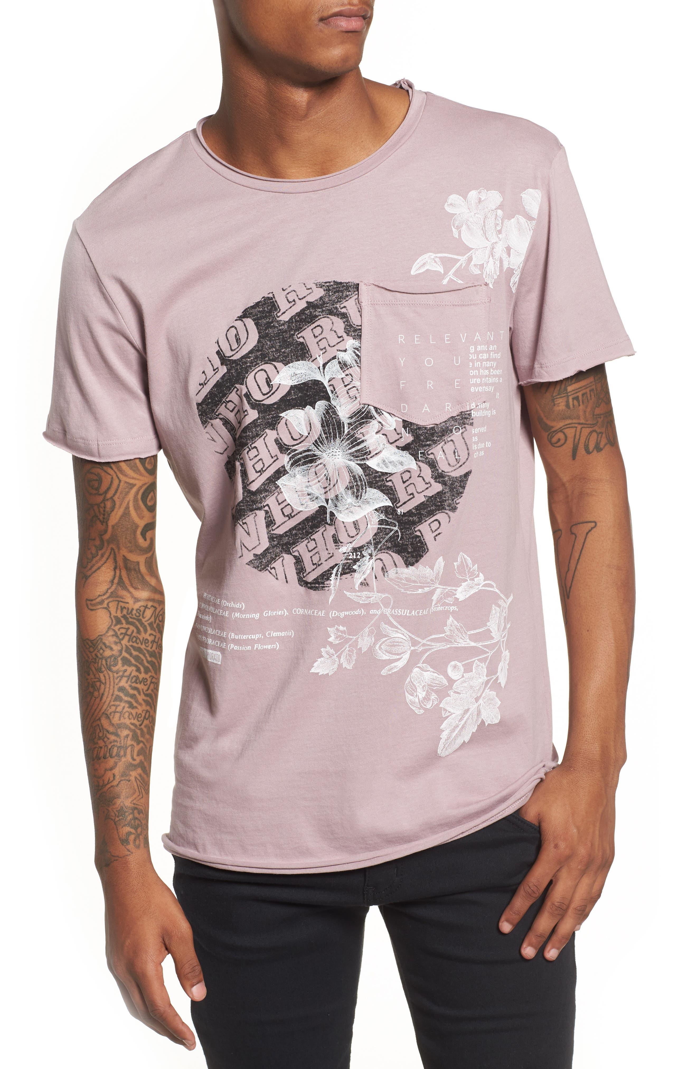 Antony Morato Floral Pocket T-Shirt