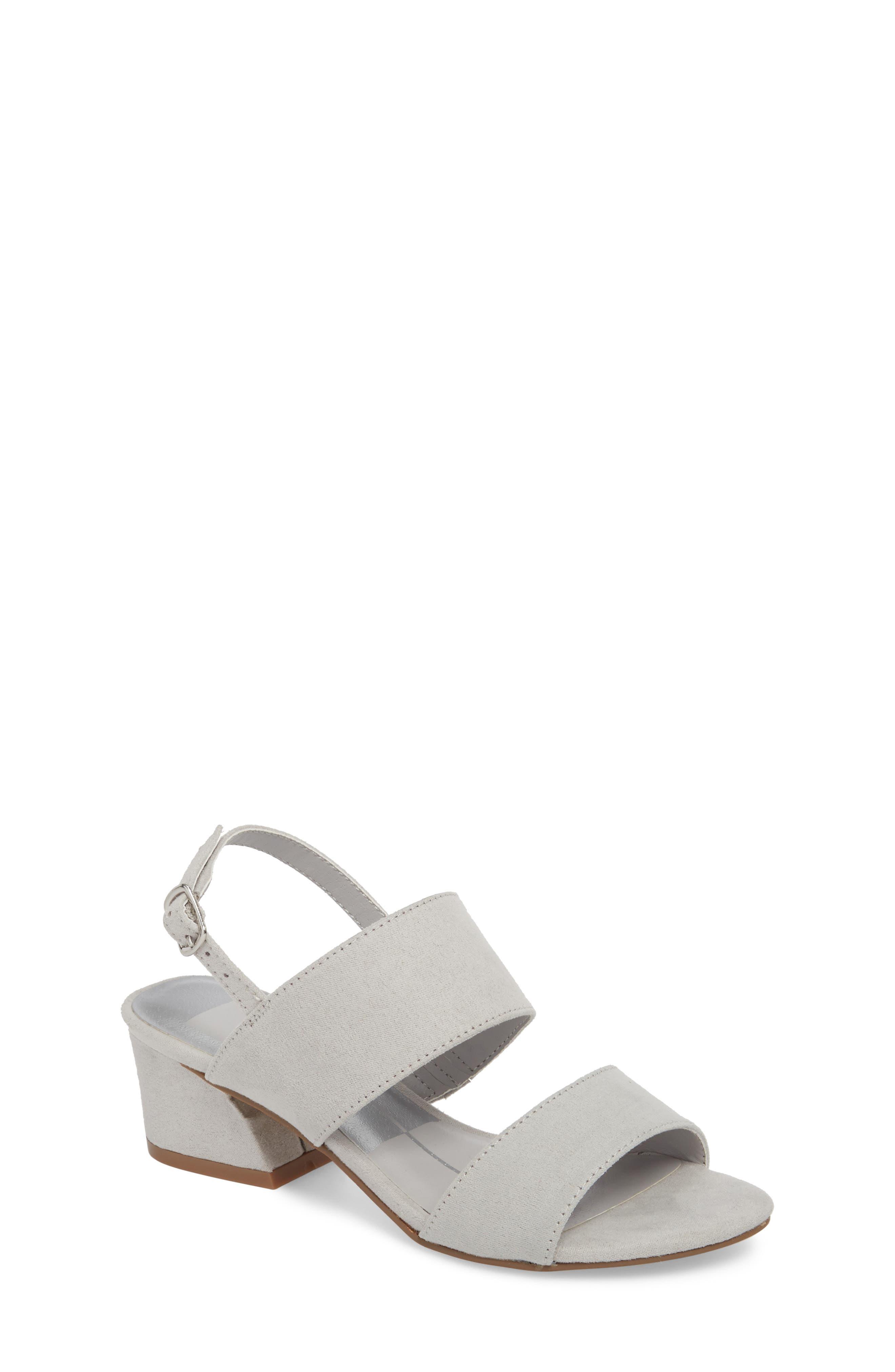 Lorne Flared Heel Sandal,                             Main thumbnail 1, color,                             Light Grey