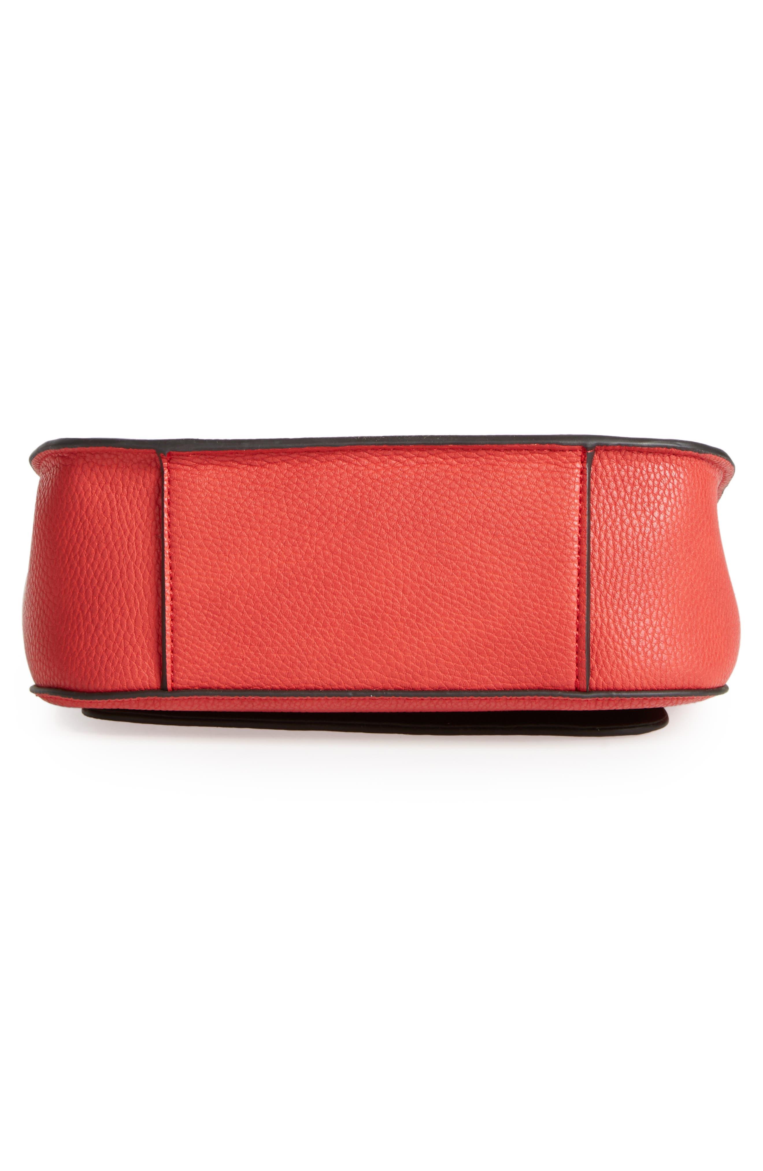 Mini Laine Fringe Crossbody Bag,                             Alternate thumbnail 6, color,                             Red