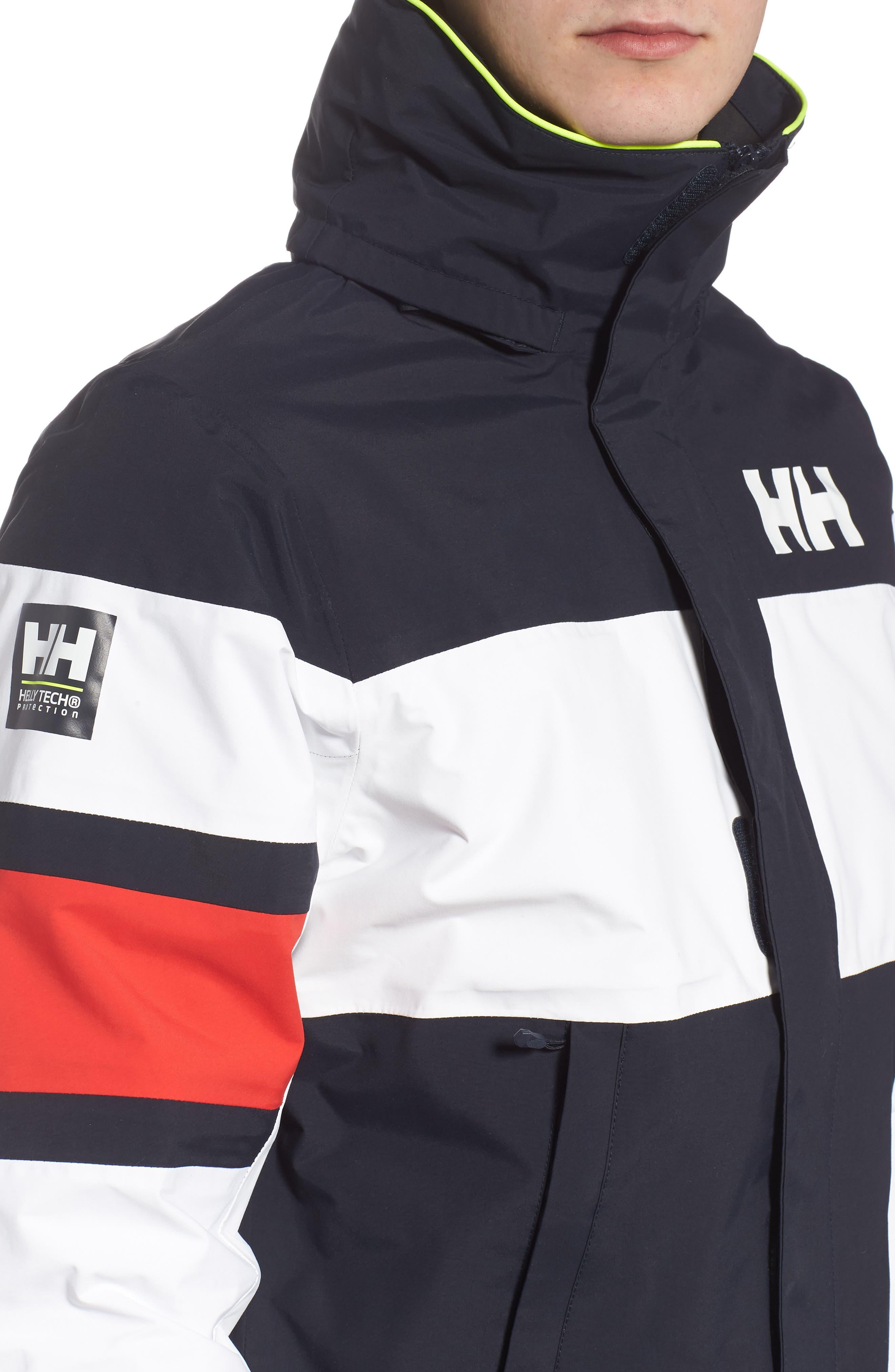 Salt Light Hooded Jacket,                             Alternate thumbnail 4, color,                             Navy