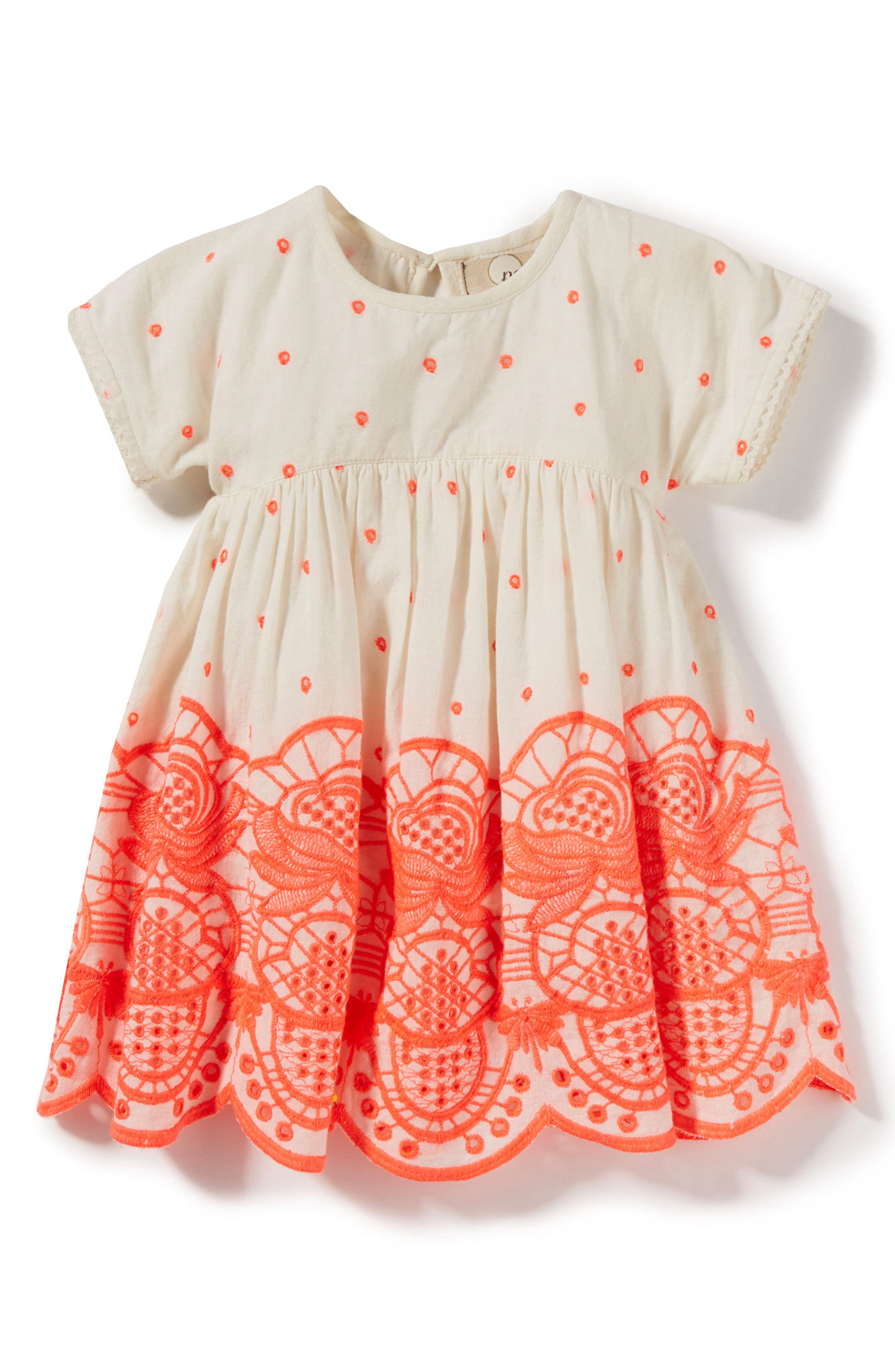 Alternate Image 1 Selected - Peek Sun Embroidered Dress (Baby Girls)