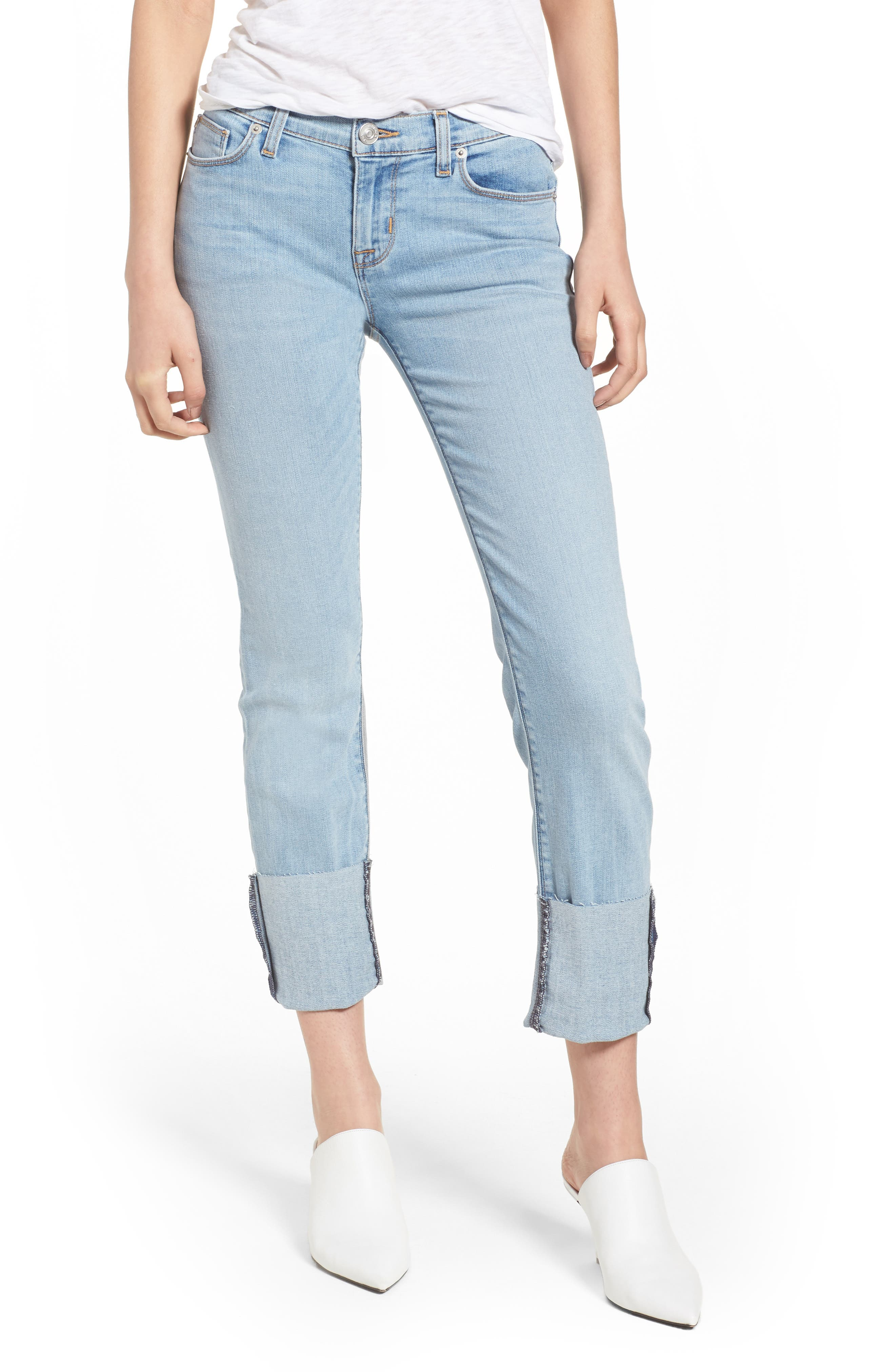 Tally Cuffed Crop Skinny Jeans,                         Main,                         color, Gemini