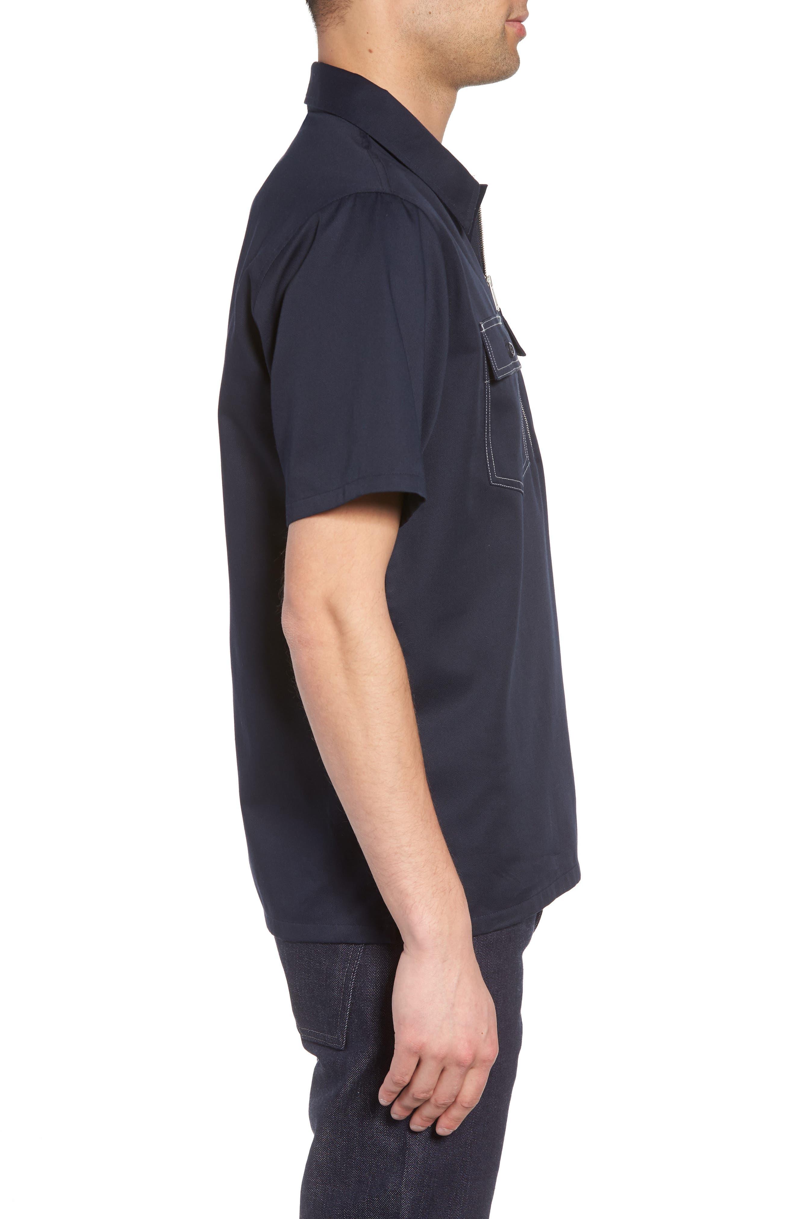 Medford Woven Shirt,                             Alternate thumbnail 4, color,                             Dark Navy