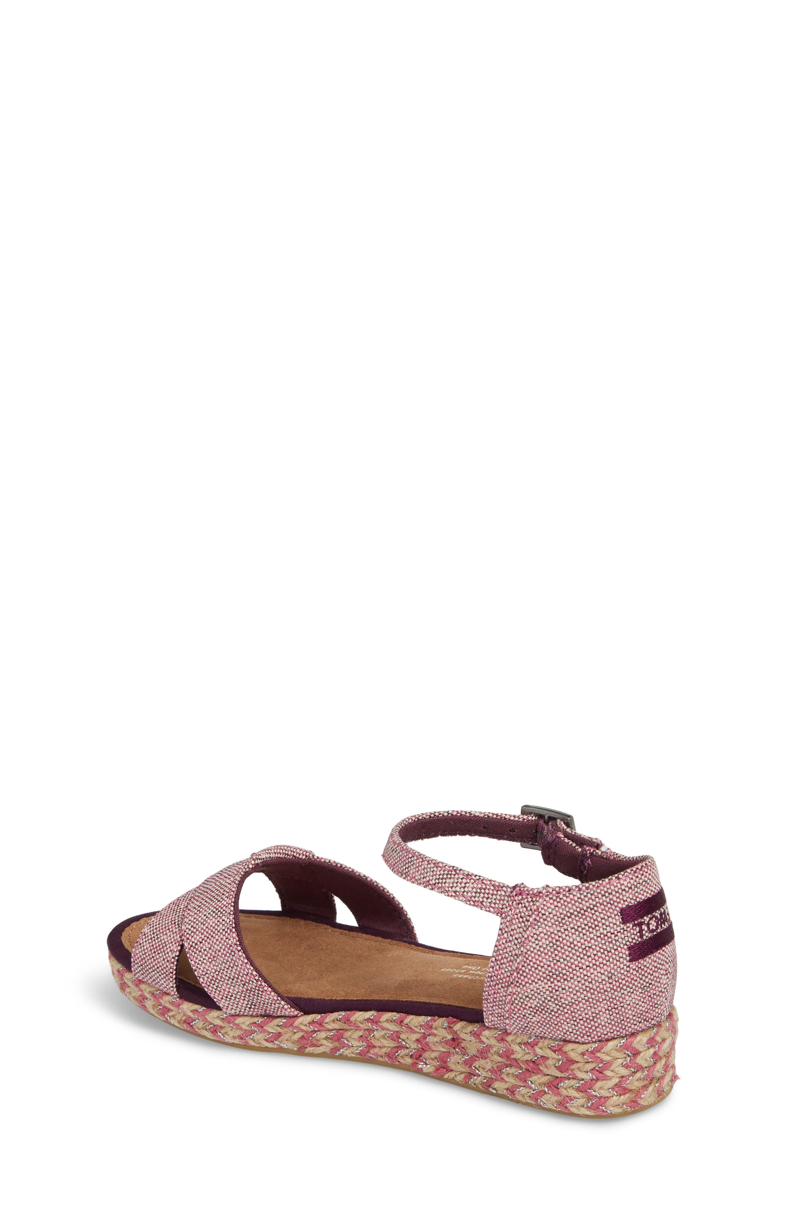 Harper Wedge Sandal,                             Alternate thumbnail 2, color,                             Plum Oxford Melange