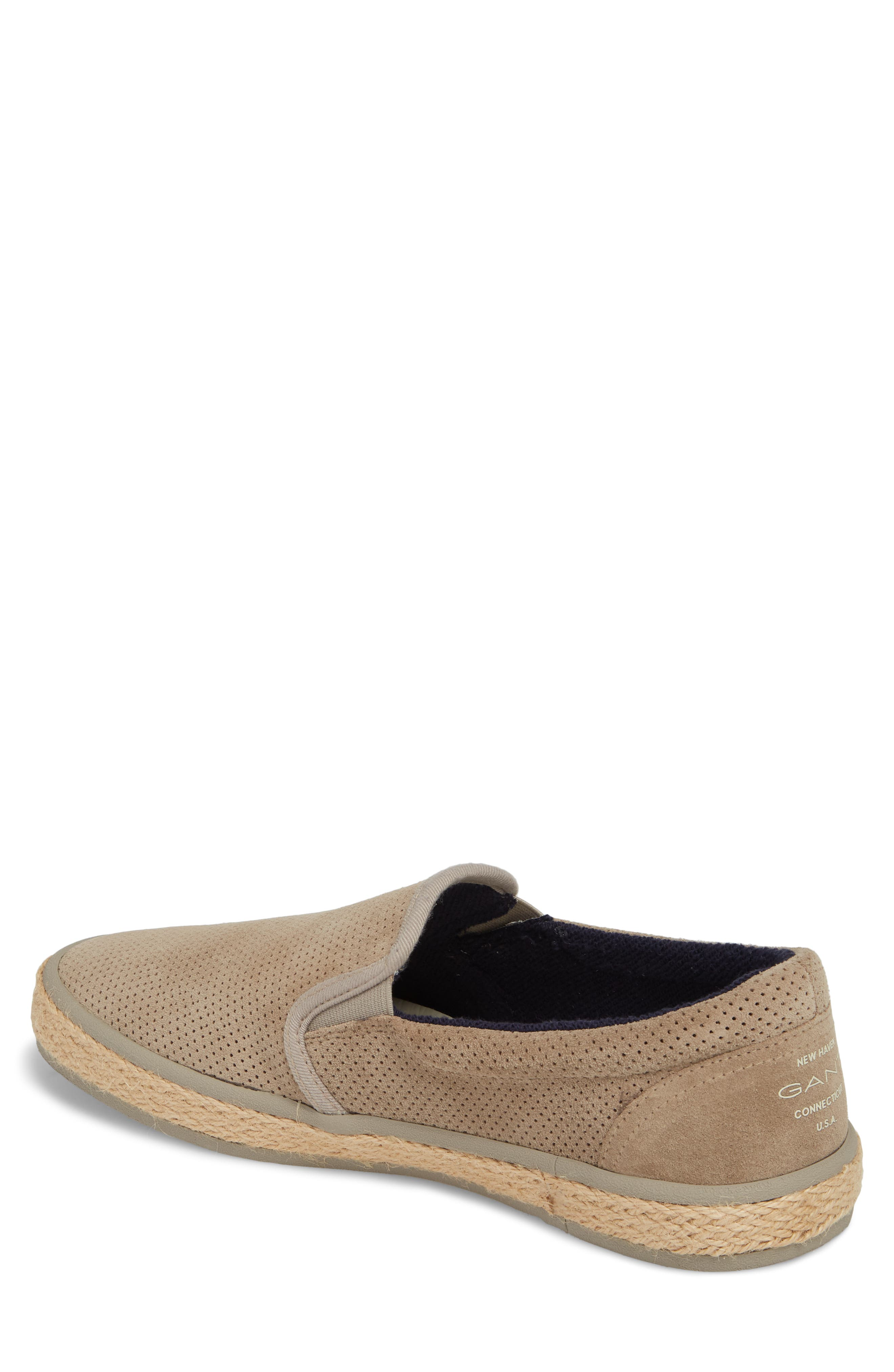 Master Perforated Slip-On Sneaker,                             Alternate thumbnail 2, color,                             Cashew Brown